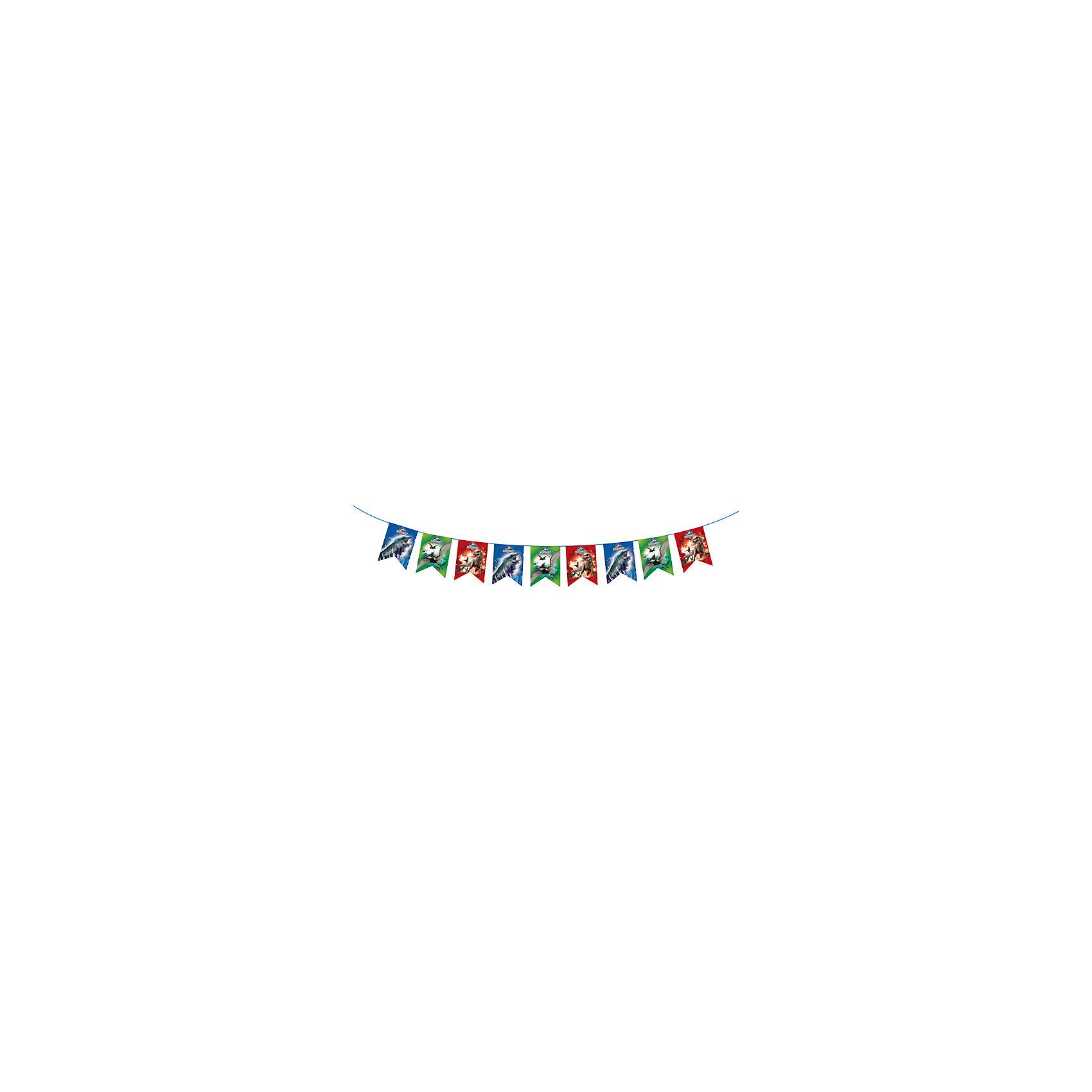 Гирлянда-флажки Динозавры 3,2 м, Парк Юрского ПериодаНовинки для детской<br>Гирлянда-флажки Динозавры 3,2 м, Парк Юрского Периода – аксессуар станет отличным украшением для комнаты, где будет отмечаться торжество.<br>Стильная гирлянда «Динозавры» с персонажами фильма «Парк Юрского Периода» идеально подойдет для детского праздника. Она не только эффектно преобразит помещение, но и поднимет настроение всем участникам торжества.<br><br>Дополнительная информация:<br><br>- Длина: 3,2 м.<br>- Высота флажков: 18 см.<br>- Материал: бумага<br>- Способ крепления: лента<br><br>Гирлянду-флажки Динозавры 3,2 м, Парк Юрского Периода можно купить в нашем интернет-магазине.<br><br>Ширина мм: 250<br>Глубина мм: 210<br>Высота мм: 5<br>Вес г: 80<br>Возраст от месяцев: 36<br>Возраст до месяцев: 96<br>Пол: Мужской<br>Возраст: Детский<br>SKU: 4278329