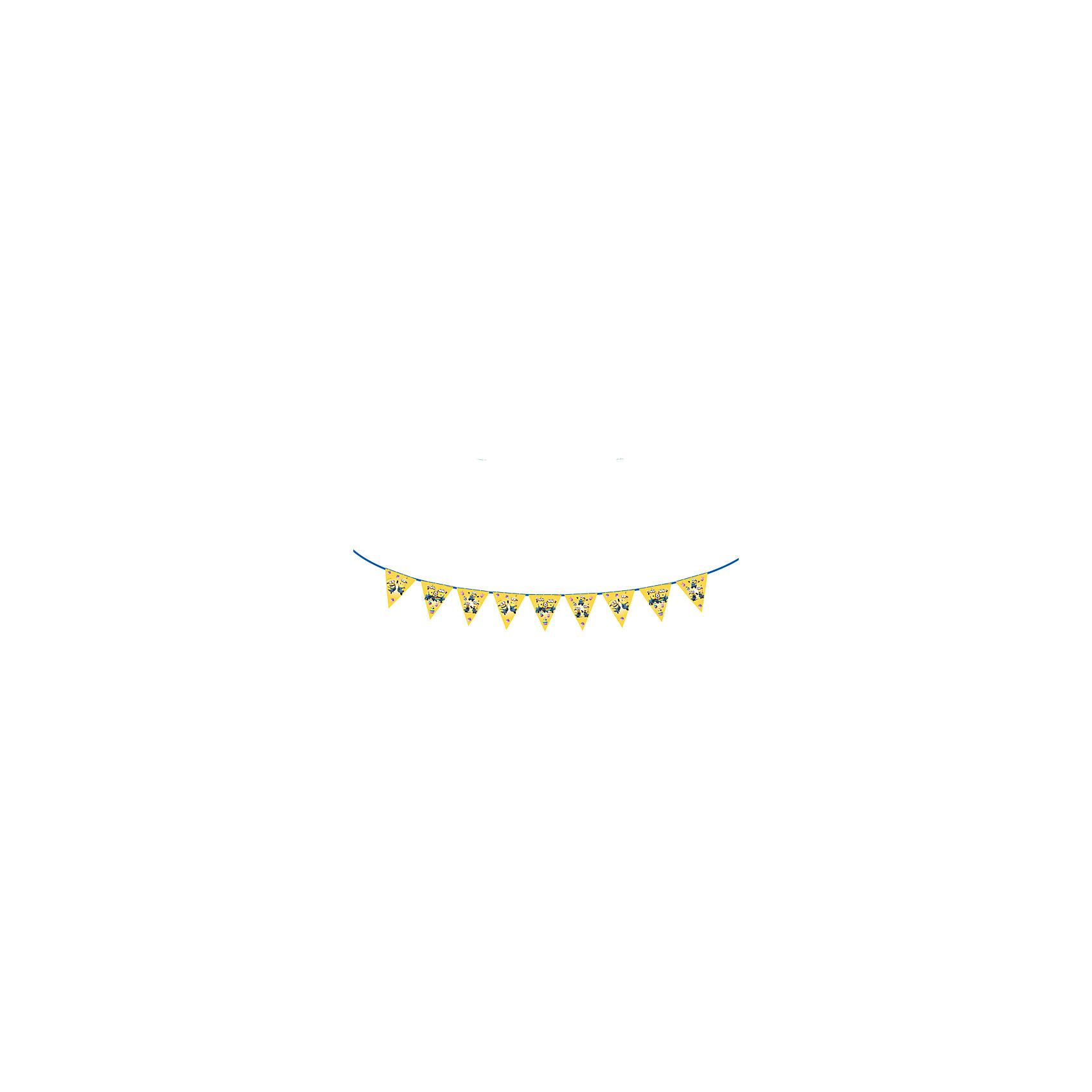 Росмэн Гирлянда-флажки Миньоны 3 м гирлянда электрическая lunten ranta сосулька 20 светодиодов длина 2 85 м