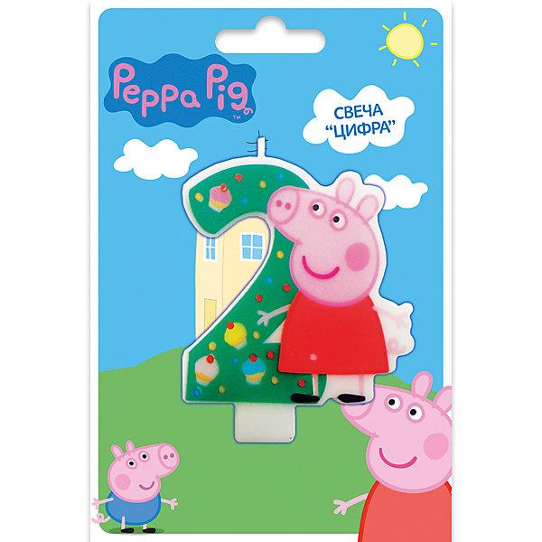 Свеча-цифра №2, Свинка Пеппа