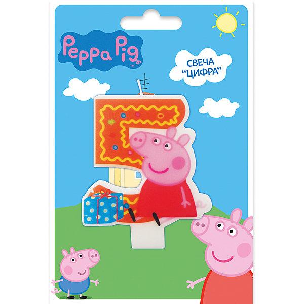 Свеча-цифра №5, Свинка Пеппа