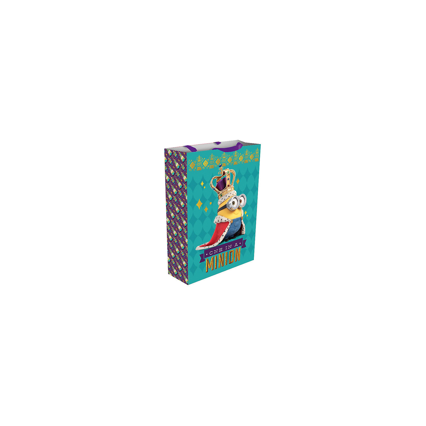 Росмэн Подарочный пакет Миньон-монарх,350*250*90 товары для праздника olala пакет подарочный миньон король 350 х 250 х 90 см