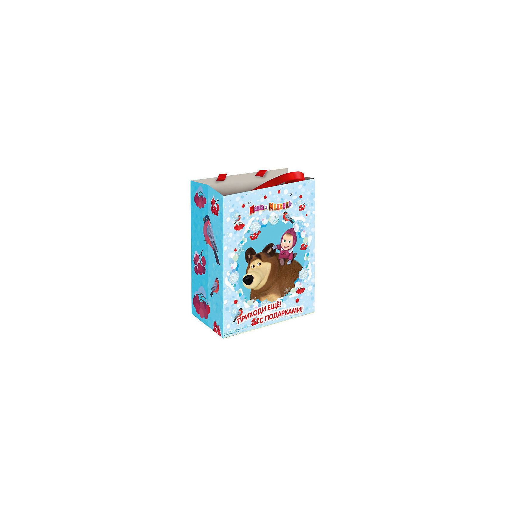 Росмэн Подарочный пакет Маша зимой 23*18*10 см росмэн подарочный пакет миньон монарх 350 250 90