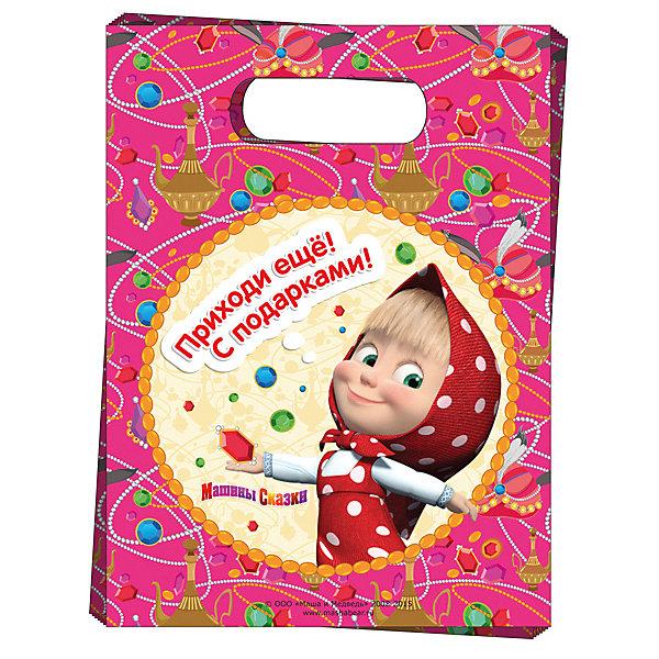 Подарочный пакет Машины сказки (6 шт)Маша и Медведь<br>Подарочный пакет Машины сказки (6 шт) – этот аксессуар станет незаменимым дополнением к выбранному подарку.<br>Красивые подарочные пакеты – это самое простое и при этом стильное средство эффектно украсить подарок. И чем их больше, тем лучше! В наборе «Машины сказки» 6 подарочных полиэтиленовых пакетов с героиней мультфильма «Маша и Медведь. Они украсят любые предметы, которые вы захотите подарить малышке, и обязательно подарят ей отличное настроение. Также в пакеты можно упаковывать небольшие презенты победителям конкурсов на детском празднике.<br><br>Дополнительная информация:<br><br>- Количество пакетов: 6<br>- Размер пакета: 17х23 см.<br>- Материал: полиэтилен<br><br>Подарочный пакет Машины сказки (6 шт) можно купить в нашем интернет-магазине.<br><br>Ширина мм: 180<br>Глубина мм: 270<br>Высота мм: 3<br>Вес г: 80<br>Возраст от месяцев: 36<br>Возраст до месяцев: 84<br>Пол: Женский<br>Возраст: Детский<br>SKU: 4278392