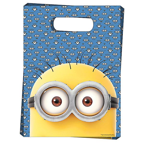 Подарочный пакет Миньоны (6 шт)Миньоны<br>Подарочный пакет Миньоны (6 шт) – этот аксессуар станет незаменимым дополнением к выбранному подарку.<br>Красивые подарочные пакеты – это самое простое и при этом стильное средство эффектно украсить подарок. И чем их больше, тем лучше! В наборе «Миньоны» 6 подарочных полиэтиленовых пакетов с героем мультфильма «Гадкий Я». Они украсят любые предметы, которые вы захотите подарить ребенку, и обязательно подарят ему отличное настроение. Также в пакеты можно упаковывать небольшие презенты победителям конкурсов на детском празднике.<br><br>Дополнительная информация:<br><br>- Количество пакетов: 6<br>- Размер пакета: 17х23 см.<br>- Материал: полиэтилен<br><br>Подарочный пакет Миньоны (6 шт) можно купить в нашем интернет-магазине.<br>Ширина мм: 180; Глубина мм: 270; Высота мм: 3; Вес г: 80; Возраст от месяцев: 36; Возраст до месяцев: 144; Пол: Унисекс; Возраст: Детский; SKU: 4278394;