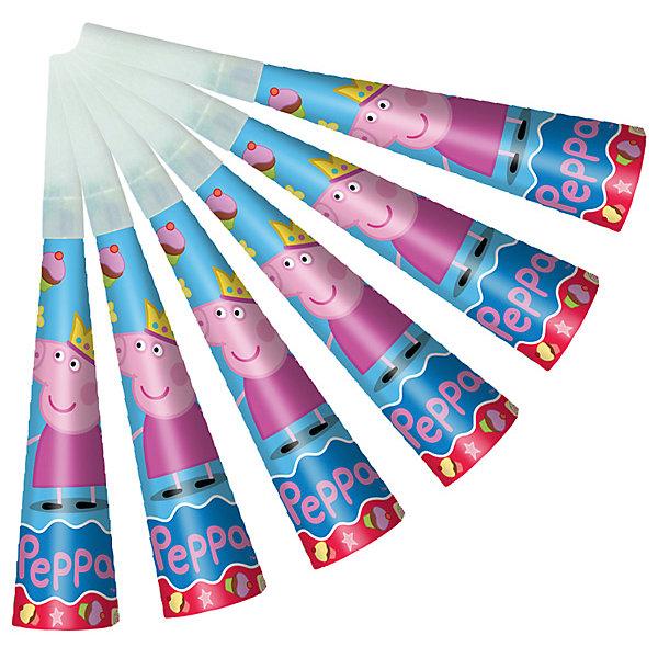 Дудочка Пеппа-принцесса, 6 штСвинка Пеппа<br>Дудочка Пеппа-принцесса, 6 шт – этот набор дудочек станет замечательным дополнением любого детского праздника.<br>Забавные дудочки «Пеппа-принцесса» развеселят ребятишек, помогут устроить множество интересных игр и конкурсов и будут активно способствовать развитию их дыхательной системы, что очень полезно для здоровья. В наборе 6 ярких дудочек с изображением озорной свинки Пеппы. Из данной серии вы также можете выбрать скатерть, стаканы, тарелки, язычки, колпаки, подарочный набор посуды, приглашение в конверте, гирлянду, свечи, маску и другие товары.<br><br>Дополнительная информация:<br><br>- В наборе: 6 дудочек<br>- Материал: бумага<br>- Размер упаковки: 10 х 15 х 3 см.<br><br>Дудочку Пеппа-принцесса, 6 шт можно купить в нашем интернет-магазине.<br>Ширина мм: 100; Глубина мм: 150; Высота мм: 30; Вес г: 80; Возраст от месяцев: 36; Возраст до месяцев: 84; Пол: Унисекс; Возраст: Детский; SKU: 4278395;