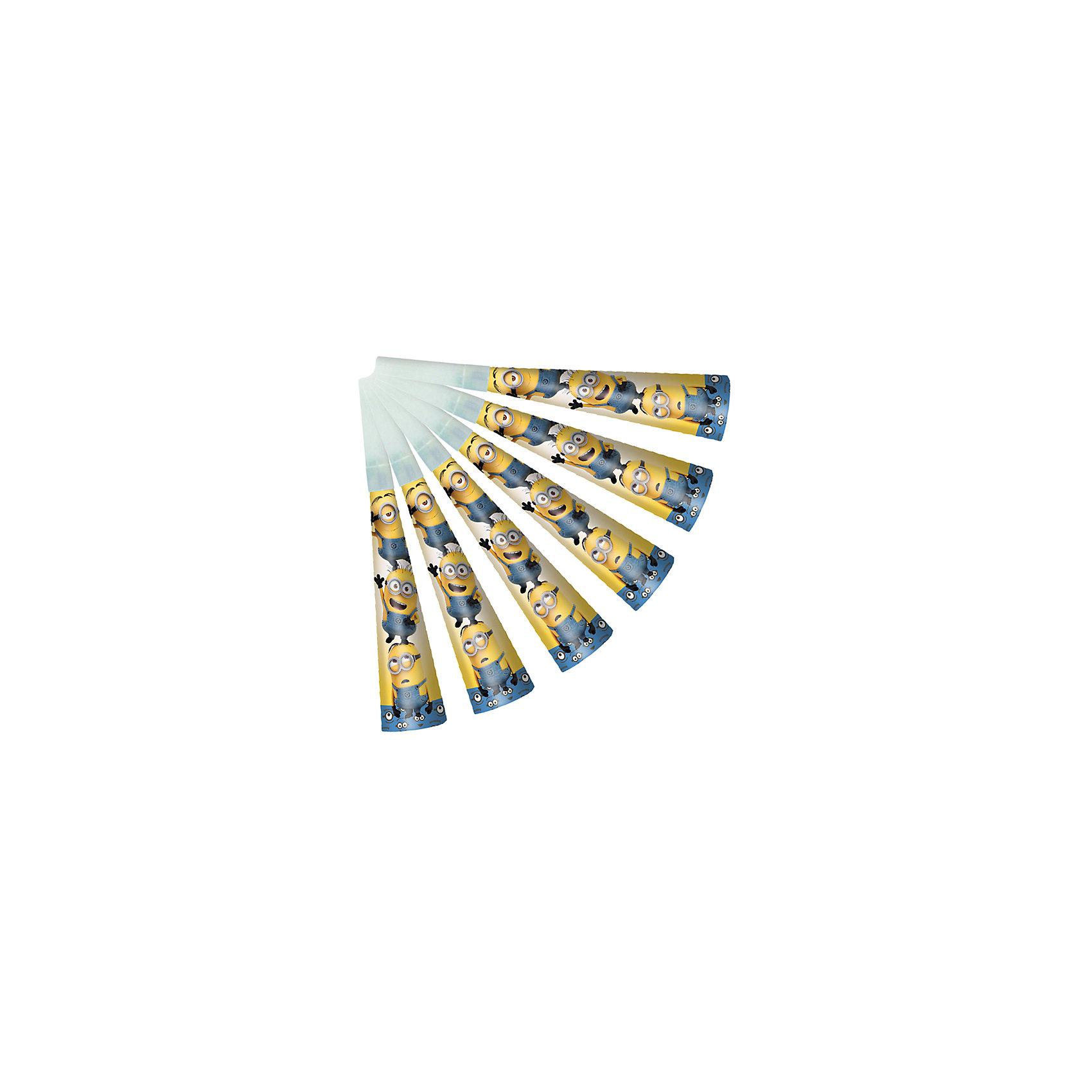Дудочка Миньоны, 6 штМиньоны<br>Дудочка Миньоны, 6 шт – этот набор дудочек станет замечательным дополнением любого детского праздника.<br>Забавные дудочки Миньоны развеселят ребятишек, помогут устроить множество интересных игр и конкурсов и будут активно способствовать развитию их дыхательной системы, что очень полезно для здоровья. В наборе 6 ярких дудочек с изображением забавных миньонов. Из данной серии вы также можете выбрать скатерть, салфетки, стаканы, тарелки, язычки, колпаки, подарочный набор посуды, приглашение в конверте, гирлянду, свечи, маску и другие товары.<br><br>Дополнительная информация:<br><br>- В наборе: 6 дудочек<br>- Материал: бумага<br>- Размер упаковки: 10 х 15 х 3 см.<br><br>Дудочку Миньоны, 6 шт можно купить в нашем интернет-магазине.<br><br>Ширина мм: 100<br>Глубина мм: 150<br>Высота мм: 30<br>Вес г: 80<br>Возраст от месяцев: 36<br>Возраст до месяцев: 120<br>Пол: Унисекс<br>Возраст: Детский<br>SKU: 4278396