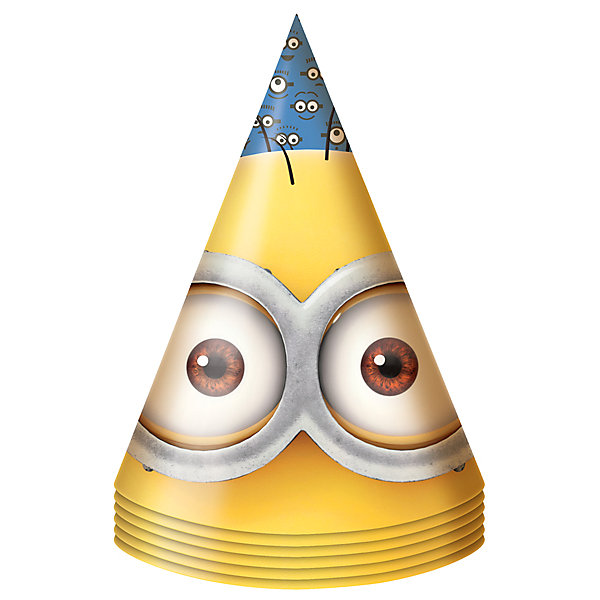 Праздничный колпак Миньоны, 6 штДетские шляпы и колпаки<br>Праздничный колпак Миньоны, 6 шт – этот набор колпачков станет замечательным дополнением любого детского праздника.<br>Яркие колпачки «Миньоны» создадут атмосферу незабываемого праздника и поднимут настроение всем участникам торжества. Забавные колпачки с нарисованными глазами миньонов приведут в восторг любого ребенка! Из данной серии вы также можете выбрать скатерть, салфетки, стаканы, тарелки, язычки, дудочки, подарочный набор посуды, приглашение в конверте, гирлянду, свечи, маску и другие товары.<br><br>Дополнительная информация:<br><br>- В наборе: 6 колпаков<br>- Материал: бумага<br>- Размер упаковки: 10 х 15 х 3 см.<br><br>Праздничный колпак Миньоны, 6 шт можно купить в нашем интернет-магазине.<br>Ширина мм: 100; Глубина мм: 150; Высота мм: 30; Вес г: 80; Возраст от месяцев: 36; Возраст до месяцев: 120; Пол: Унисекс; Возраст: Детский; SKU: 4278399;