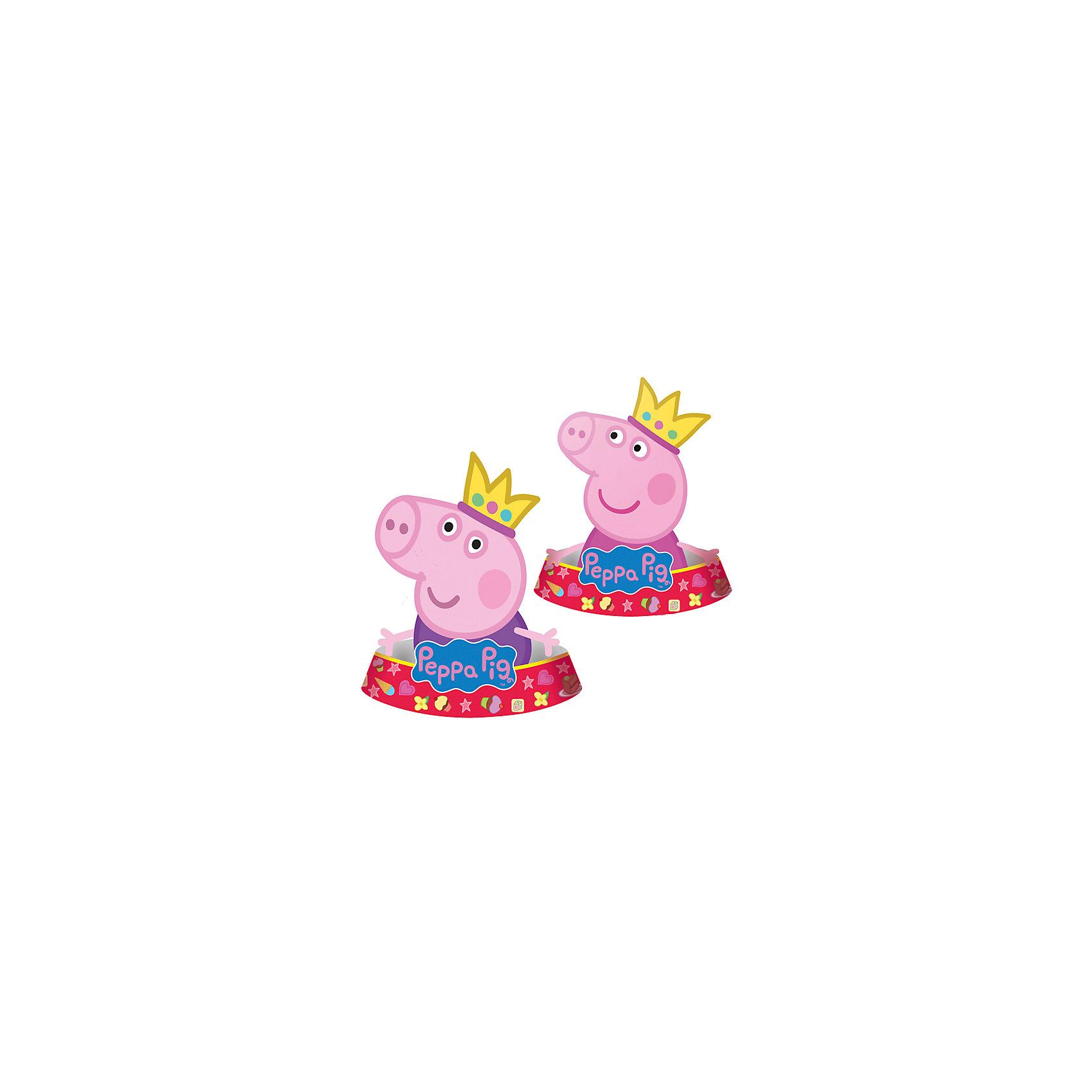 Фигурный колпак Пеппа-принцесса, 6 шт (2 дизайна)Фигурный колпак Пеппа-принцесса, 6 шт (2 дизайна) – этот набор колпачков станет замечательным дополнением любого детского праздника.<br>Яркие фигурные колпаки «Пеппа-принцесса» создадут атмосферу незабываемого праздника и поднимут настроение всем участникам торжества Забавные колпачки в виде Свинки Пеппы и Джорджа приведут в восторг любого ребенка! Из данной серии вы также можете выбрать скатерть, стаканы, тарелки, язычки, дудочки, подарочный набор посуды, приглашение в конверте, гирлянду, свечи, маску и другие товары.<br><br>Дополнительная информация:<br><br>- В наборе: 6 фигурных колпаков (в виде Пеппы 3 шт, в виде Джорджа 3 шт)<br>- Материал: бумага<br>- Размер упаковки: 10 х 15 х 3 см.<br><br>Фигурный колпак Пеппа-принцесса, 6 шт (2 дизайна) можно купить в нашем интернет-магазине.<br><br>Ширина мм: 100<br>Глубина мм: 150<br>Высота мм: 30<br>Вес г: 80<br>Возраст от месяцев: 36<br>Возраст до месяцев: 84<br>Пол: Унисекс<br>Возраст: Детский<br>SKU: 4278402