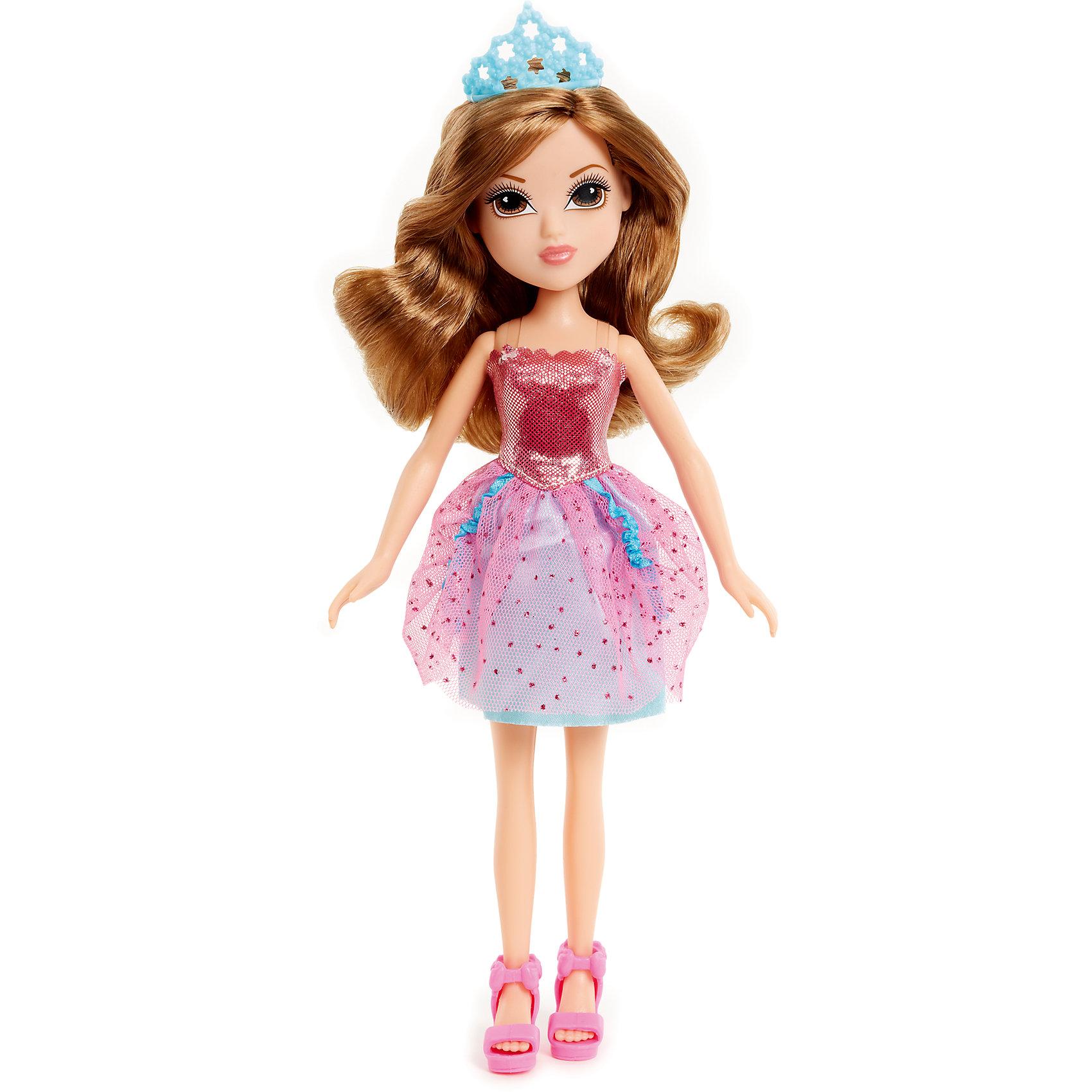 Принцесса в розовом платье, MoxieБренды кукол<br>Кукла Мокси - настоящая принцесса: на голове у неё тиара, она одета в милое розовое платьице с воздушной юбкой и розовые босоножки на высокой платформе. Её длинные каштановые волосы очень приятно расчесывать, создавая самые невероятные и красивые прически. <br><br>Дополнительная информация:<br><br>- Материал: пластик, текстиль.<br>- Высота: 23 см.<br>- Комплектация: кукла, одежда, обувь, тиара.<br>- Голова, руки, ноги куклы подвижные.<br><br>Принцесса в розовом платье, Moxie, можно купить в нашем магазине.<br><br>Ширина мм: 140<br>Глубина мм: 290<br>Высота мм: 60<br>Вес г: 188<br>Возраст от месяцев: 36<br>Возраст до месяцев: 120<br>Пол: Женский<br>Возраст: Детский<br>SKU: 4278420