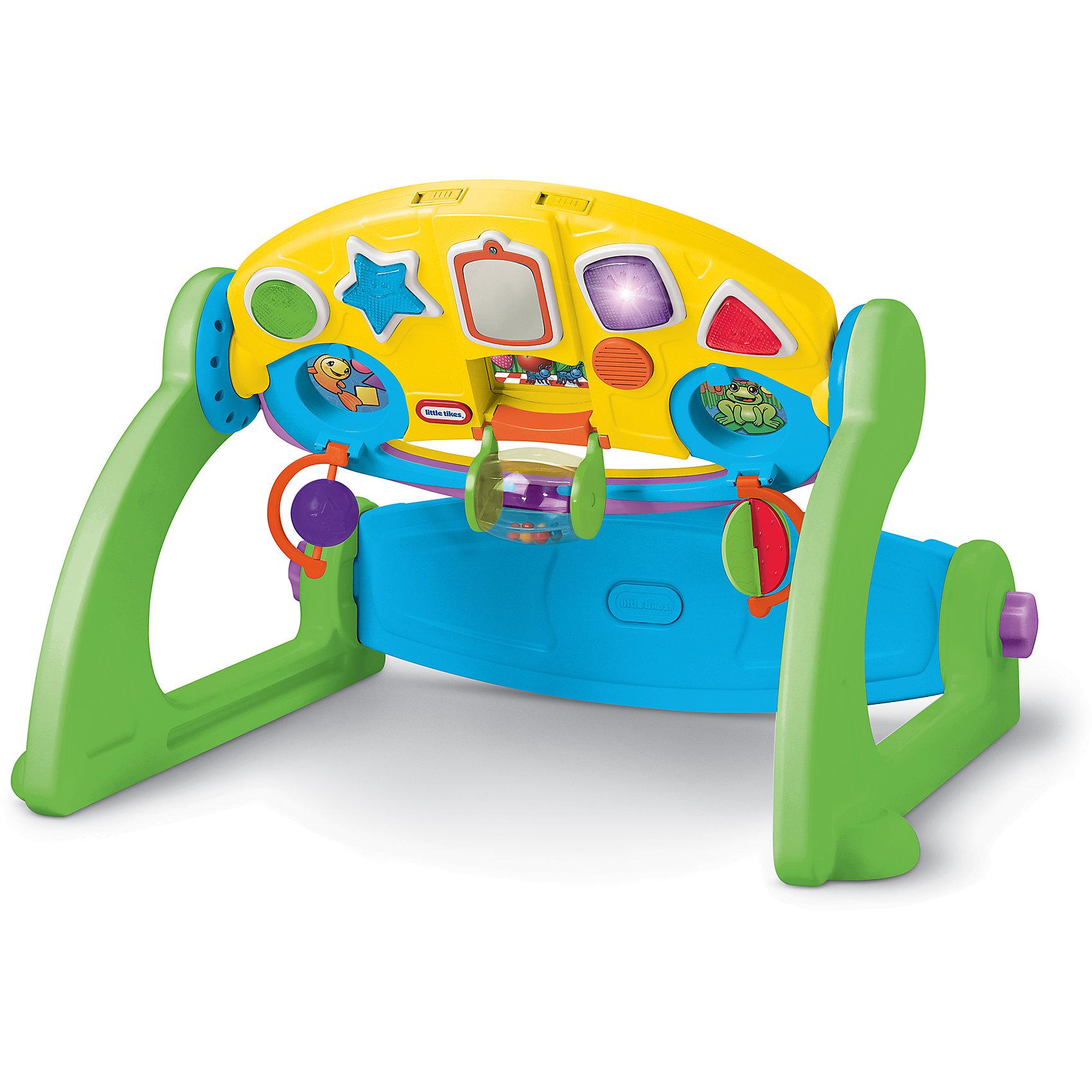 Регулируемый развивающий центр, Little TikesИгрушки для малышей<br>Универсальный игровой центр  для малышей от самого рождения до трёх лет. Игровая панель может устанавливаться как перпендикулярно полу, так и параллельно в виде столика. Развивает мелкую моторику, способствует умственному росту ребёнка, формированию абстрактного мышления, развитию фантазии и воображения. Развивающий центр имеет несколько способов установки, соответствующих стадиям развития ребенка: классический развивающий центр, активность сидя, центр-стройка, столик для игр; 12 регулируемых настроек. Игровая панель светится разноцветными огоньками и проигрывает музыку. <br><br>Дополнительная информация:<br><br>- Материал: пластик, металл.<br>- Размер упаковки: 60,5 х 38 х 15 см.<br>- Размер игрового столика: 45х29 см. <br>- Элемент питания: 3 АА батарейки (не входят в комплект).<br>- Звуковые и световые эффекты. <br><br>Регулируемый развивающий центр, Little Tikes, можно купить в нашем магазине.<br><br>Ширина мм: 610<br>Глубина мм: 385<br>Высота мм: 155<br>Вес г: 3833<br>Возраст от месяцев: 12<br>Возраст до месяцев: 48<br>Пол: Унисекс<br>Возраст: Детский<br>SKU: 4278432