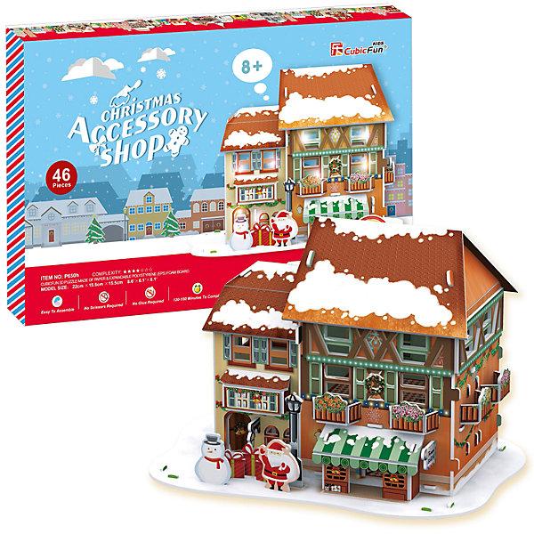 Рождественский домик 4, с подсветкой, CubicFun3D пазлы<br>Сказочный рождественский домик  ребенок может смастерить самостоятельно без клея и ножниц.  Детали легко и просто выдавливаются из картона и соединяются между собой с помощью специальных соединительных приспособлений. Этот домик украсит любую детскую комнату. С ним можно играть или просто поставить на полку и любоваться яркой и красивой поделкой. Игрушка помогает в развитии логики и творческих способностей ребенка, помогает в формировании мышления, речи, внимания, восприятия и воображения; развивает моторику рук; расширяет кругозор ребенка и стимулирует к познанию новой информации.<br><br>Дополнительная информация:<br><br>- Материал: ламинированный поликартон.<br>- Комплектация: детали пазла, инструкция, база со светодиодами.<br>- Элемент питания: 3 ААА батарейки (не входят в комплект).<br>- Размер в собранном виде: 22 х 15,5 х 15,5 см.<br>- Количество деталей: 46 шт.<br>- Обучающая, яркая и реалистичная модель.<br>- Идеально и легко собирается без инструментов.<br>- Увлекательный игровой процесс.<br><br>Рождественский домик 4, с подсветкой, CubicFun, можно купить в нашем магазине.<br>Ширина мм: 340; Глубина мм: 220; Высота мм: 25; Вес г: 304; Цвет: rot-kombi; Возраст от месяцев: 72; Возраст до месяцев: 192; Пол: Унисекс; Возраст: Детский; SKU: 4278438;