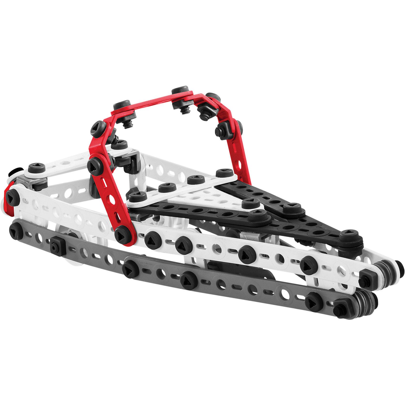 Быстроходный катер (10 моделей), MeccanoМеталлические конструкторы<br>Самый большой набор конструктора из серии Meccano Junior от Spin Master состоит из 150 деталей белого, чёрного, серого и красного цвета. В комплект входит инструкция, которая позволяет собрать одну из 10 базовых моделей и все необходимые инструменты: отвёртка с треугольным жалом и гаечный ключ. Все детали конструктора отлиты из высококачественной пластмассы, абсолютно безопасной для детей. Конструктор поставляется в удобной для хранения упаковки в форме ведёрка.<br><br>Дополнительная информация:<br><br>- Материал: пластик, резина.<br>- Проста сборки и разборки.<br>- Удобная и практичная упаковка. <br>- Размер упаковки: 29х20х30 см.<br>- Количество деталей: 150.<br><br>Быстроходный катер (10 моделей), Meccano (Меккано), можно купить в нашем магазине.<br><br>Ширина мм: 290<br>Глубина мм: 200<br>Высота мм: 300<br>Вес г: 1538<br>Возраст от месяцев: 60<br>Возраст до месяцев: 144<br>Пол: Мужской<br>Возраст: Детский<br>SKU: 4278448