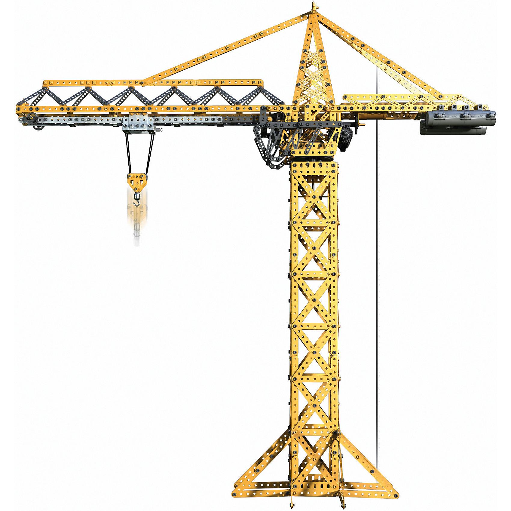 Строительный кран, MeccanoМеталлические конструкторы<br>Основная модель этого набора - кран. Он оборудован тремя моторами, обеспечивающими движение крана во всех плоскостях, благодаря чему, он может выполнять все функции настоящего строительного крана. При этом, он имеет подсветку, которую можно программировать по своему желанию. Конструктор Meccano увлекает не только сборкой, но и последующей эксплуатацией и игрой с ним, благодаря возможности конструировать огромное разнообразие моделей и богатому функционалу. Его захочет иметь в своей коллекции не только ребенок, но и взрослый. Каждый конструктор имеет набор необходимых инструментов, удобных в использовании, и подробную инструкцию, разработанную таким образом, чтобы он была максимально понятна для детей.<br><br><br>Дополнительная информация:<br><br>- Материал: металл.<br>- Размер упаковки: 50х38х10 см.<br>- Размер крана: 93х32х96 см. <br>- Комплектация:  1741 деталь, пульт, 3 мотора, 3 светодиода, инструменты для сборки. <br>- Количество деталей: 1989.<br>- Элемент питания: 4 С батарейки,  3 ААА батарейки (в комплекте нет).<br><br>Строительный кран, Meccano (Меккано), можно купить в нашем магазине.<br><br>Ширина мм: 500<br>Глубина мм: 383<br>Высота мм: 111<br>Вес г: 5555<br>Возраст от месяцев: 120<br>Возраст до месяцев: 192<br>Пол: Мужской<br>Возраст: Детский<br>SKU: 4278450