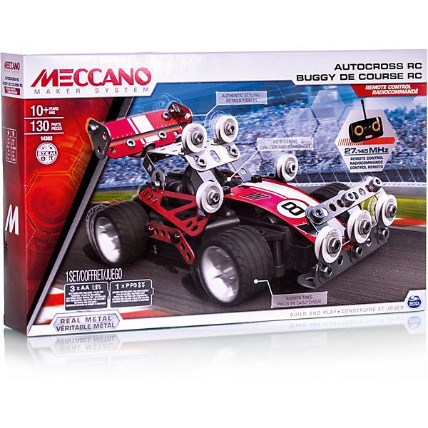 Гоночная машина (2 модели), на радиоуправлении, MeccanoМеталлические конструкторы<br>Этот набор конструктора Meccano содержит всё необходимое для сборки одной из двух моделей автомобилей на радиоуправлении: раллийной машины или спорткара. Конструкторы Meccano помогают развить в ребёнке фантазию, инженерное мышление и познакомить его с принципами работы простейших механизмов. <br><br>Дополнительная информация:<br><br>- Материал:  пластик, металл.<br>- 2 модели<br>- Размер упаковки: 14х25х7 см.<br>- Количество деталей: 130<br>- Комплектация: отвертка, гаечный ключ, детали конструктора, наклейки, инструкция, пульт ДУ.<br>- Элемент питания: батарейки (не входят в комплект).<br><br>Гоночную машину (2 модели), на радиоуправлении, Meccano (Меккано), можно купить в нашем магазине.<br><br>Ширина мм: 140<br>Глубина мм: 250<br>Высота мм: 70<br>Вес г: 928<br>Возраст от месяцев: 120<br>Возраст до месяцев: 192<br>Пол: Мужской<br>Возраст: Детский<br>SKU: 4278452