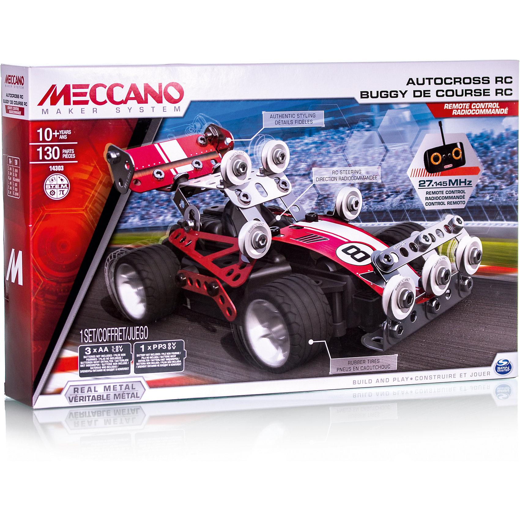 Meccano Гоночная машина (2 модели), на радиоуправлении, Meccano игрушка meccano боевой вертолёт 2 модели meccano