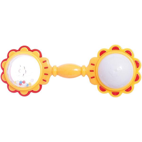 Погремушка Светлячок, СтелларИгрушки для новорожденных<br>Погремушка Светлячок, Стеллар – эта яркая и красивая погремушка привлечет внимание вашего малыша и не позволит ему скучать.<br>Погремушка Светлячок - отличный подарок для любознательного ребенка! Ее уникальный дизайн, яркие цвета не оставят малышей равнодушными. Одна сторона игрушки зеленая с желтой каймой, другая — желтая с зеленым обрамлением. Погремушка представляет собой два шарика, соединенные ручкой. Внутри прозрачного шарика перекатываются разноцветные гранулы. Если потрясти погремушку, другой шарик замигает разными цветами. Погремушка развивает мелкую моторику рук, координацию движений, зрение, цветовое восприятие, воображение.<br><br>Дополнительная информация:<br><br>- Материал: полистирол<br>- Цвет: зеленый, желтый, красный<br>- Игрушка работает от незаменяемых батареек<br>- Размер упаковки: 140 х 60 х 26 мм.<br>- Вес: 60 гр.<br><br>ВНИМАНИЕ! Данный артикул имеется в наличии в разных цветовых исполнениях. К сожалению, заранее выбрать определенный цвет невозможно. При заказе нескольких позиций возможно получение одинаковых.<br><br>Погремушку Светлячок, Стеллар можно купить в нашем интернет-магазине.<br>Ширина мм: 140; Глубина мм: 60; Высота мм: 26; Вес г: 60; Возраст от месяцев: 0; Возраст до месяцев: 12; Пол: Унисекс; Возраст: Детский; SKU: 4278946;
