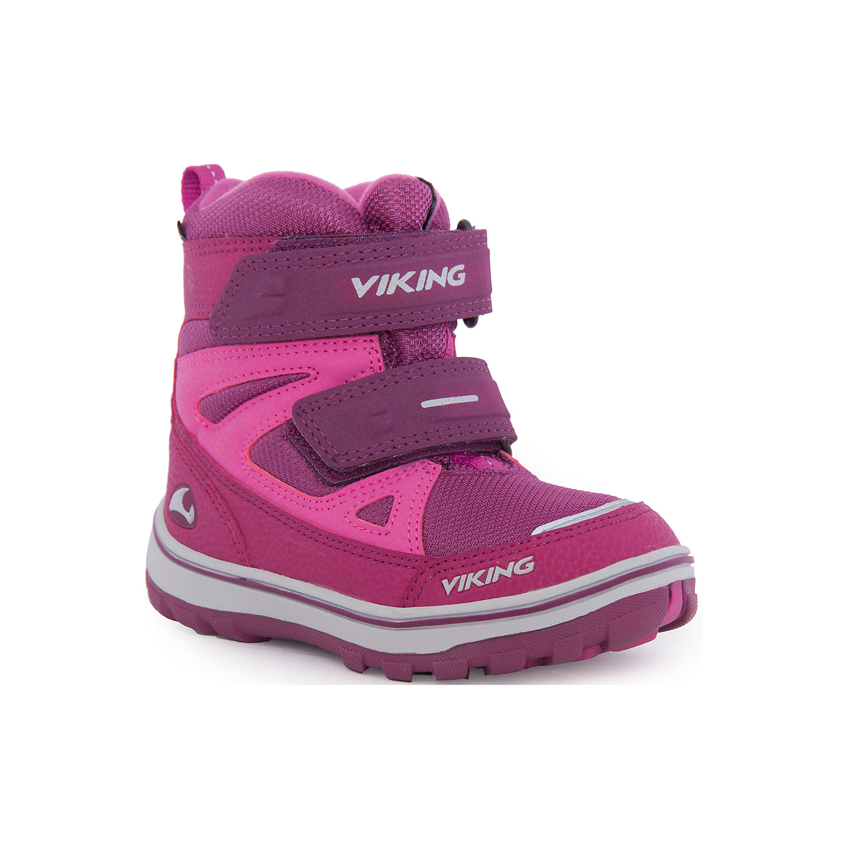 Сапоги для девочки VIKINGМодная и технологичная обувь на каждый день! Ветро- и водонепроницаемая мембрана GORE-TEX® не пропускает влагу и холодный воздух внутрь, при этом позволяя ногам дышать. Подошва из натуральной резины остается эластичной при любой температуре, обеспечивая надежное сцепление с поверхностью. А подкладка с натуральной шерстью создает комфортный микроклимат внутри обуви. Модель украшена оригинальной шнуровкой и оторочкой на голенище.<br>Состав: <br>Материал верха: 90% текстиль, 10% искусственная кожа<br>Материал подклада: мембранная подкладка GORE-TEX<br><br>Ширина мм: 262<br>Глубина мм: 176<br>Высота мм: 97<br>Вес г: 427<br>Цвет: фиолетовый<br>Возраст от месяцев: 36<br>Возраст до месяцев: 48<br>Пол: Женский<br>Возраст: Детский<br>Размер: 27,30,24,26,29,25,28<br>SKU: 4279101