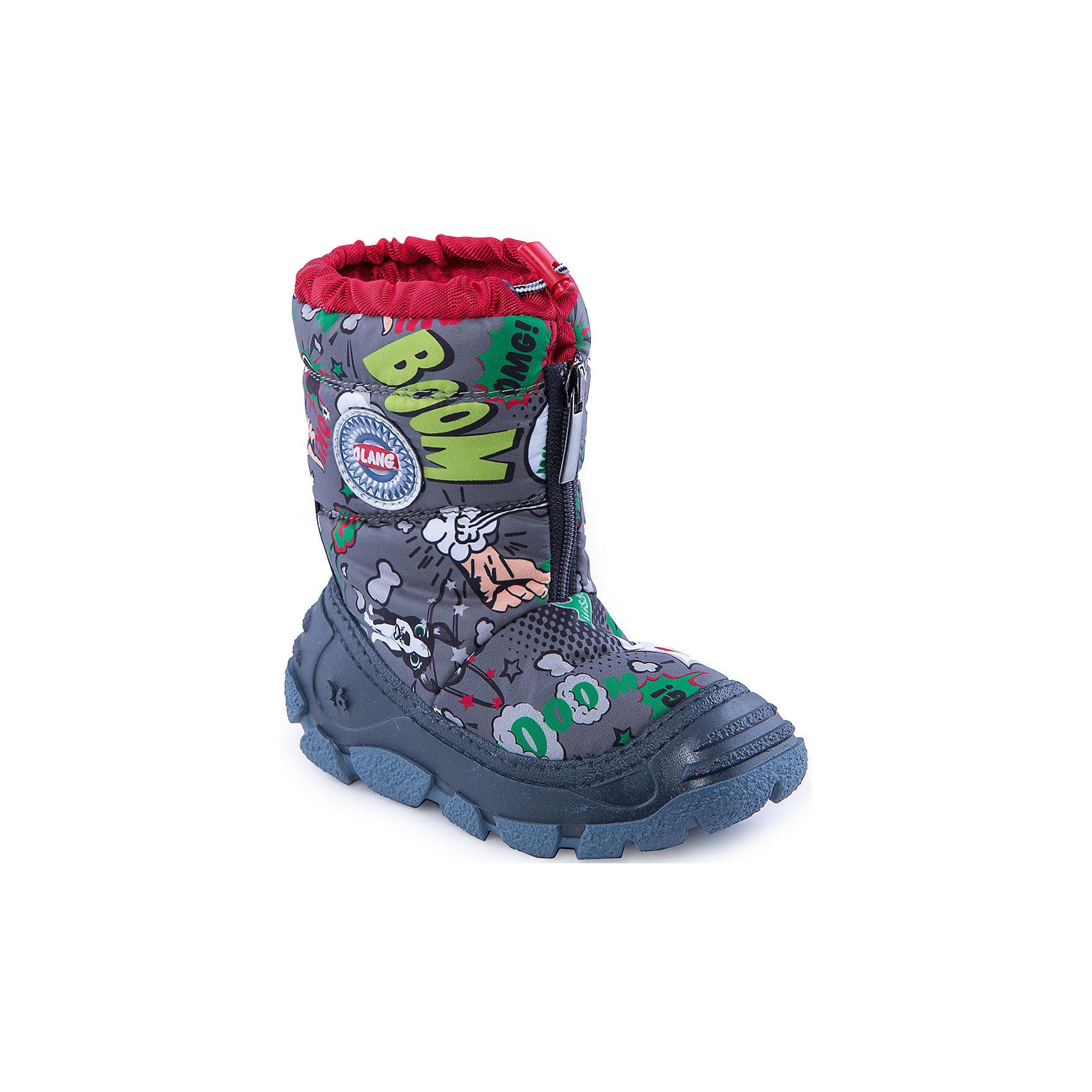 Сапоги для мальчика OlangСапоги для мальчика от известной марки Olang<br><br>Модные дутики разработаны специально для детей. <br>В холода они обеспечат детским ножкам комфорт и тепло.<br><br>Отличительные особенности модели:<br><br>- цвет: серый, с принтом;<br>- устойчивая рифленая подошва;<br>- теплая стелька;<br>- усиленный носок и задник;<br>- эргономичная форма;<br>- удобная колодка;<br>- меховая подкладка;<br>- качественные материалы;<br>- высокое голенище;<br>- застежка-молния впереди, утяжка.<br><br>Дополнительная информация:<br><br>- Температурный режим: от - 20° С  до +5° С.<br><br>- Состав:<br><br>материал верха: 80% текстиль, 20% полиуретан<br>материал подкладки: искусственный мех<br>подошва: 70% ЭВА, 30% натуральная резина<br><br>Сапоги для мальчика Olang (Оланг) можно купить в нашем магазине.<br><br>Ширина мм: 257<br>Глубина мм: 180<br>Высота мм: 130<br>Вес г: 420<br>Цвет: серый<br>Возраст от месяцев: 24<br>Возраст до месяцев: 24<br>Пол: Мужской<br>Возраст: Детский<br>Размер: 25/26,29/30,27/28<br>SKU: 4279317
