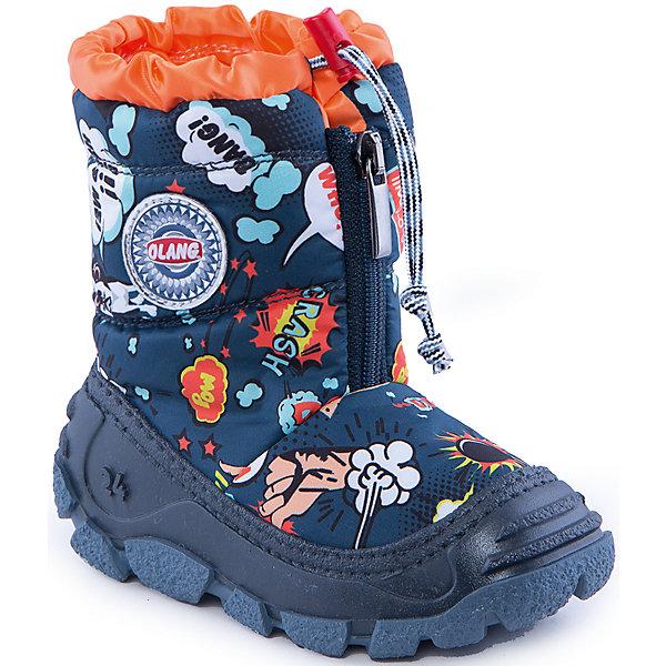 Сапоги для мальчика OlangСноубутсы<br>Сапоги для мальчика от известной марки Olang<br><br>Модные дутики разработаны специально для детей. <br>В холода они обеспечат детским ножкам комфорт и тепло.<br><br>Отличительные особенности модели:<br><br>- цвет: темно-синий, с принтом;<br>- устойчивая рифленая подошва;<br>- теплая стелька;<br>- усиленный носок и задник;<br>- эргономичная форма;<br>- удобная колодка;<br>- меховая подкладка;<br>- качественные материалы;<br>- высокое голенище;<br>- застежка-молния впереди, утяжка.<br><br>Дополнительная информация:<br><br>- Температурный режим: от - 20° С  до +5° С.<br><br>- Состав:<br><br>материал верха: 80% текстиль, 20% полиуретан<br>материал подкладки: искусственный мех<br>подошва: 70% ЭВА, 30% натуральная резина<br><br>Сапоги для мальчика Olang (Оланг) можно купить в нашем магазине.<br>Ширина мм: 257; Глубина мм: 180; Высота мм: 130; Вес г: 420; Цвет: синий; Возраст от месяцев: 36; Возраст до месяцев: 48; Пол: Мужской; Возраст: Детский; Размер: 27/28,29/30,25/26,23/24; SKU: 4279321;
