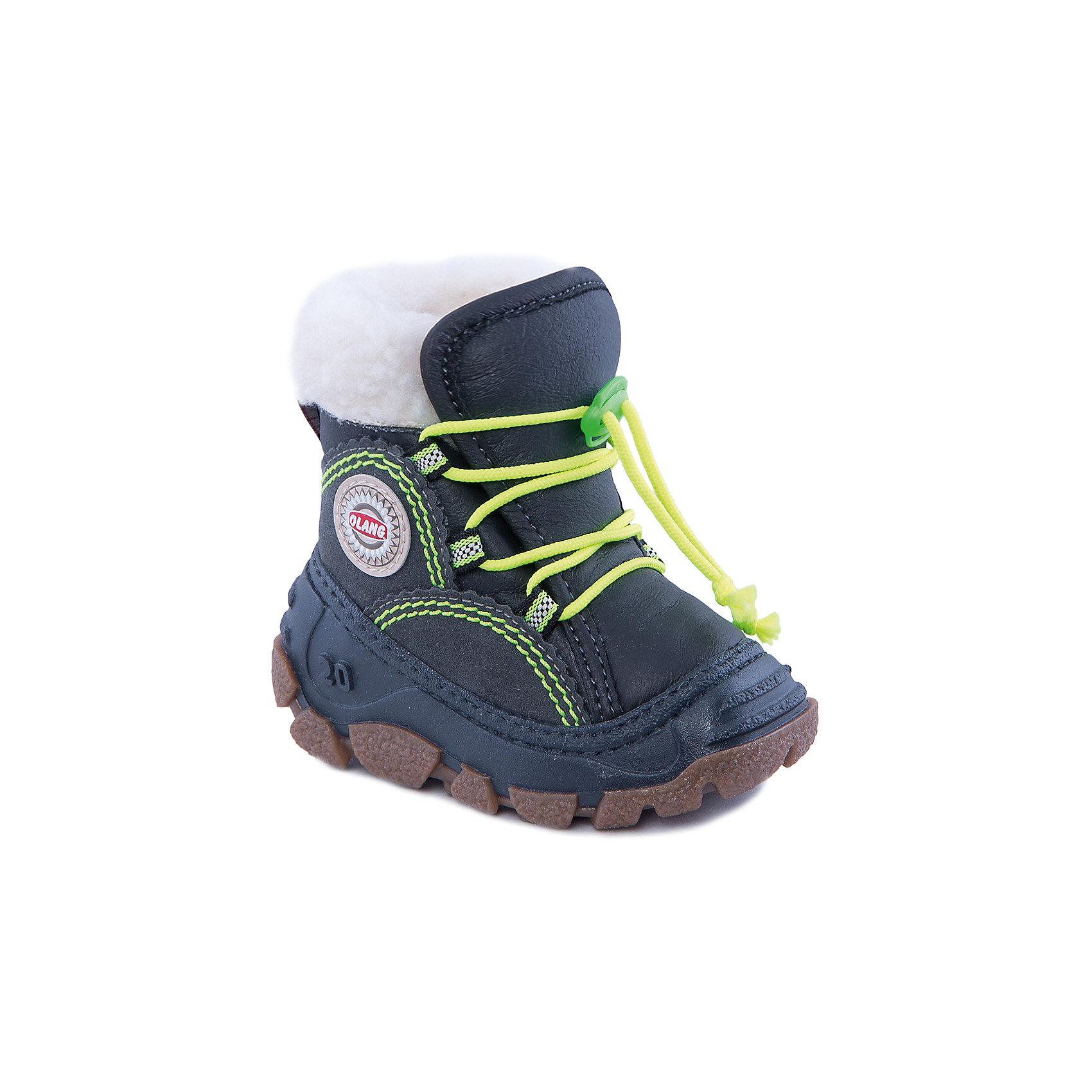 Сапоги для мальчика OlangТеплые ботинки на шнуровке выручат в самую холодную погоду! Внутри комфорт ребенку обеспечит подкладка с натуральной шерстью. А подошва из полимерного материала устойчива к низким температурам. Яркие шнурки дополняют стильный образ!<br>Состав: <br>Материал верха:50% искусственная кожа, 50% эко-замша<br>Материал подклада: искусственный мех<br><br>Ширина мм: 257<br>Глубина мм: 180<br>Высота мм: 130<br>Вес г: 420<br>Цвет: серый<br>Возраст от месяцев: 6<br>Возраст до месяцев: 9<br>Пол: Мужской<br>Возраст: Детский<br>Размер: 19/20,27/28,25/26,21/22,23/24<br>SKU: 4279336