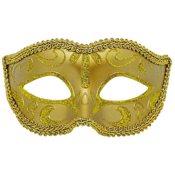 Карнавальная маска ЗолотоДетские карнавальные маски<br>Карнавальная маска Золото – это возможность превратить праздник в необычное, яркое шоу.<br>Карнавальная маска Золото, изготовленная из пластика и украшенная глиттером, внесет нотку задора и веселья в праздник. Маска станет завершающим штрихом в создании праздничного образа. Изделие крепится на голове при помощи атласной ленты. В этой роскошной маске вы будете неотразимы!<br><br>Дополнительная информация:<br><br>- Размер: 15,6 х 10,3 х 7,5 см.<br>- Материал: пластик<br><br>Карнавальную маску Золото можно купить в нашем интернет-магазине.<br><br>Ширина мм: 156<br>Глубина мм: 103<br>Высота мм: 75<br>Вес г: 25<br>Возраст от месяцев: 48<br>Возраст до месяцев: 72<br>Пол: Унисекс<br>Возраст: Детский<br>SKU: 4280629