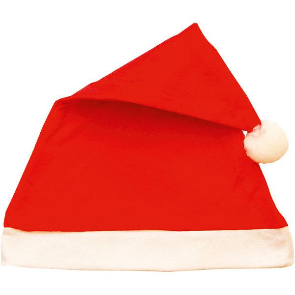 Новогодний колпак СантаДетские шляпы и колпаки<br>Новогодний колпак Санта – это возможность превратить праздник в необычное, яркое шоу.<br>Новогодний колпак Санта развеселит вас и ваших друзей в праздничную ночь. Пусть он не сделает вас волшебным дедом Морозом, но зато с ним даже обычная одежда превратится в новогодний наряд! Радуйте себя и родных, дарите подарки и хорошее настроение!<br><br>Дополнительная информация:<br><br>- Размер: 28 х 38 см.<br>- Материал: синтетический фетр<br><br>Новогодний колпак Санта можно купить в нашем интернет-магазине.<br><br>Ширина мм: 280<br>Глубина мм: 380<br>Высота мм: 20<br>Вес г: 21<br>Возраст от месяцев: 72<br>Возраст до месяцев: 96<br>Пол: Унисекс<br>Возраст: Детский<br>SKU: 4280630