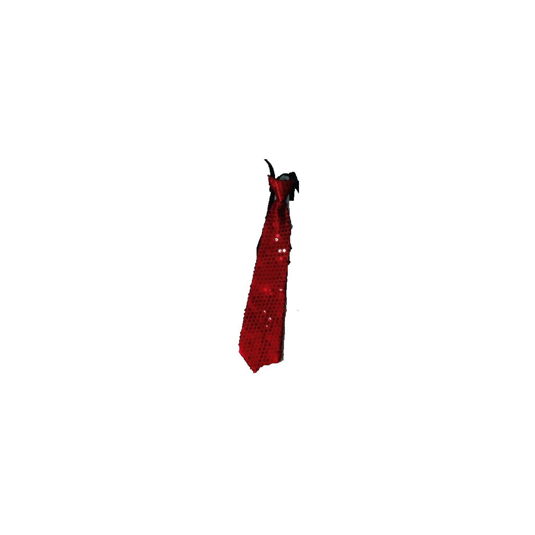 Маскарадный галстук, красныйКарнавальные костюмы и аксессуары<br>Маскарадный галстук, красный – это возможность превратить праздник в необычное, яркое шоу.<br>Красный блестящий галстук великолепно дополнит образ вашего персонажа, подчеркнет его характер и сформирует облик в целом. Если у вас намечается веселая вечеринка или маскарад, то такой аксессуар легко поможет создать праздничный наряд. Внесите нотку задора и веселья в праздник. Веселое настроение и масса положительных эмоций будут обеспечены!<br><br>Дополнительная информация:<br><br>- Размер: 35 см.<br>- Материал: полиэстер<br>- Цвет: красный<br><br>Маскарадный галстук, красный можно купить в нашем интернет-магазине.<br><br>Ширина мм: 350<br>Глубина мм: 80<br>Высота мм: 20<br>Вес г: 23<br>Возраст от месяцев: 48<br>Возраст до месяцев: 1188<br>Пол: Мужской<br>Возраст: Детский<br>SKU: 4280637