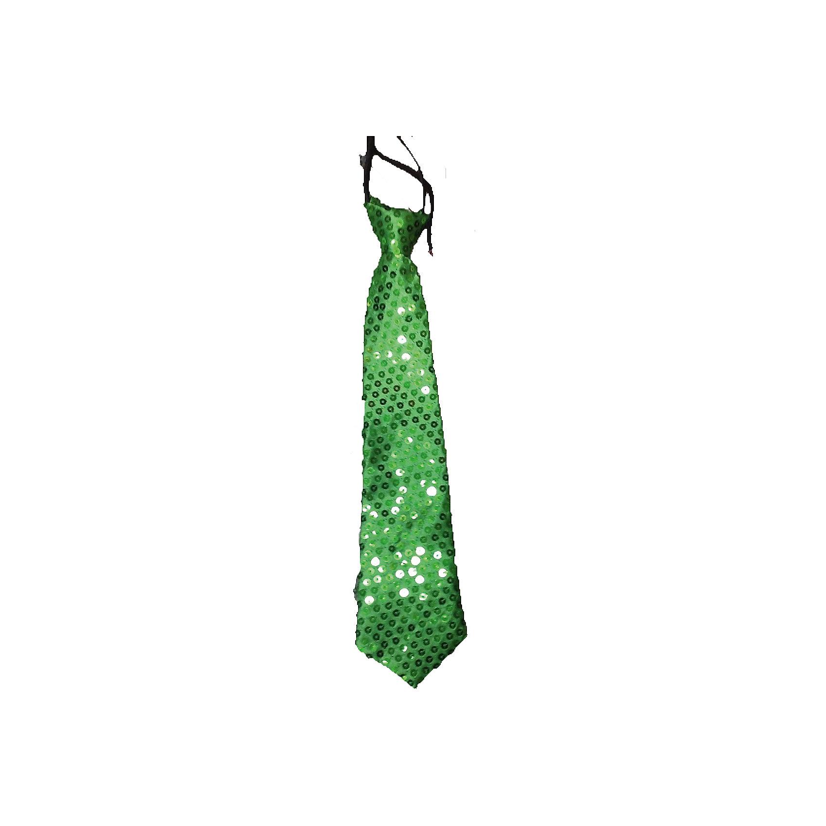 Маскарадный галстук, зеленыйМаски и карнавальные костюмы<br>Маскарадный галстук, зеленый – это возможность превратить праздник в необычное, яркое шоу.<br>Красный блестящий галстук великолепно дополнит образ вашего персонажа, подчеркнет его характер и сформирует облик в целом. Если у вас намечается веселая вечеринка или маскарад, то такой аксессуар легко поможет создать праздничный наряд. Внесите нотку задора и веселья в праздник. Веселое настроение и масса положительных эмоций будут обеспечены!<br><br>Дополнительная информация:<br><br>- Размер: 35 см.<br>- Материал: полиэстер<br>- Цвет: зеленый<br><br>Маскарадный галстук, зеленый можно купить в нашем интернет-магазине.<br><br>Ширина мм: 350<br>Глубина мм: 80<br>Высота мм: 20<br>Вес г: 23<br>Возраст от месяцев: 48<br>Возраст до месяцев: 1188<br>Пол: Мужской<br>Возраст: Детский<br>SKU: 4280638