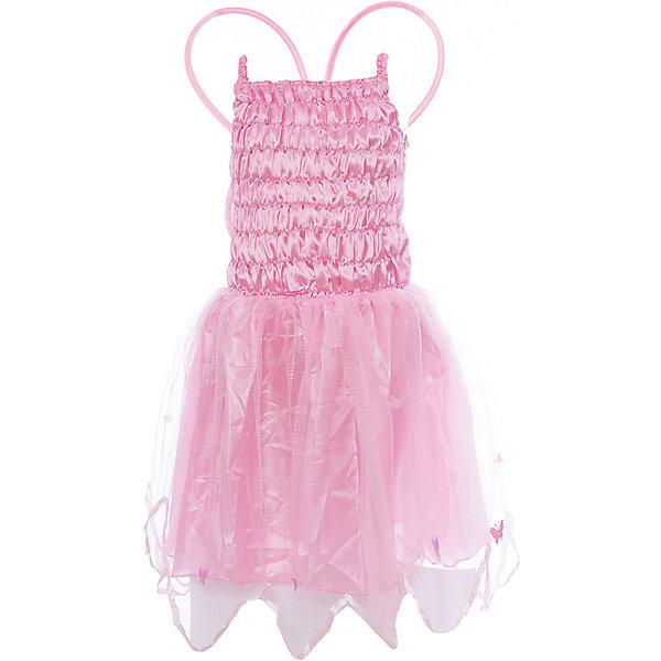 Маскарадный костюм для девочки Летающая фея, 4-6 летКарнавальные костюмы для девочек<br>Маскарадный костюм для девочки Летающая фея, 4-6 лет – это возможность превратить праздник в необычное, яркое шоу.<br>Детский маскарадный костюм Летающая фея, выполненный из полиэстера и синтетического атласа, позволит вашей малышке быть самой интересной героиней на детском утреннике, маскараде и других мероприятиях. В комплект входят платье на бретельках и крылья. Юбка платья состоит из двух слоев: нижнего из не прозрачной ткани и верхнего из органзы. Пышный подол платья придает образу легкость. Такой костюм привлечет внимание друзей вашей дочурки и подчеркнет ее индивидуальность. Веселое настроение и масса положительных эмоций будут обеспечены!<br><br>Дополнительная информация:<br><br>- Комплектация: платье, крылья<br>- Возраста: от 4 до 6 лет<br>- Рост: 110 см.<br>- Обхват груди: 60 см.<br>- Обхват талии: 53 см.<br>- Материал: полиэстер, синтетический атлас<br><br>Маскарадный костюм для девочки Летающая фея, 4-6 лет можно купить в нашем интернет-магазине.<br>Ширина мм: 400; Глубина мм: 500; Высота мм: 50; Вес г: 650; Возраст от месяцев: 48; Возраст до месяцев: 72; Пол: Женский; Возраст: Детский; SKU: 4280643;