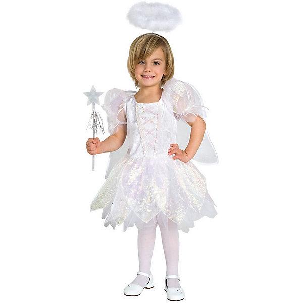 Маскарадный костюм для девочки Ангел, 4-6 летКарнавальные костюмы для девочек<br>Маскарадный костюм для девочки Ангел, 4-6 лет – это возможность превратить праздник в необычное, яркое шоу.<br>Очаровательный карнавальный костюм «Ангел» позволит вашей малышке быть самой красивой девочкой на детском утреннике, маскараде или карнавале. В комплект входят платье, крылышки, палочка и ободок. Белоснежное платье выполнено из атласного материала и прозрачной органзы с красивыми переливами. Верхняя часть платья украшена пайетками. Предусмотрен подъюбник из микросетки. Застегивается платье по спинке на пластиковую застежку-молнию. Дополнят образ Ангелочка крылышки, украшенные блестками, ободок, имитирующий нимб и волшебная палочка, украшенная блестящей звездочкой и ленточками. Крылышки и ободок оформлены пухом. Если ваша дочурка любит волшебство и мечтает хоть на минутку превратиться в прекрасного Ангела, этот шикарный маскарадный костюм поможет вам сделать ребенку поистине сказочный подарок! Веселое настроение и масса положительных эмоций будут обеспечены!<br><br>Дополнительная информация:<br><br>- Комплектация: ободок с нимбом, волшебная палочка, крылья, платье<br>- Возраста: от 4 до 6 лет<br>- Рост: 110 см.<br>- Обхват груди: 60 см.<br>- Обхват талии: 53 см.<br>- Длина платья по спинке: 68 см<br>- Размер крыльев: 40 х 35 см.<br>- Общая длина ободка с нимбом: 34 см.<br>- Материал: полиэстер, синтетический атлас<br><br>Маскарадный костюм для девочки Ангел, 4-6 лет можно купить в нашем интернет-магазине.<br><br>Ширина мм: 400<br>Глубина мм: 500<br>Высота мм: 50<br>Вес г: 600<br>Возраст от месяцев: 48<br>Возраст до месяцев: 72<br>Пол: Женский<br>Возраст: Детский<br>SKU: 4280644