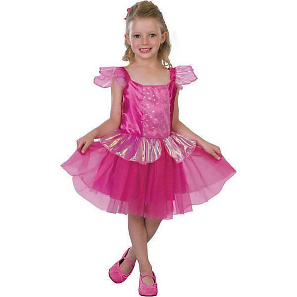 Маскарадный костюм для девочки Добрая фея, 6-8  летКарнавальные костюмы для девочек<br>Маскарадный костюм для девочки Добрая фея, 6-8  лет – это возможность превратить праздник в необычное, яркое шоу.<br>Очаровательное карнавальное платье для девочки «Добрая фея» позволит вашей малышке быть яркой героиней на детском утреннике, маскараде или карнавале. Платье с короткими рукавами-крылышками выполнено из атласного материала и прозрачной органзы с красивыми переливами. Верхняя часть платья оформлено вставкой из микросетки, украшенной звездочками. Пышная юбочка дополнена сверху слоем из микросетки, а также оборкой из прозрачной органзы. Платье подчеркнет индивидуальность вашей девочки. Веселое настроение и масса положительных эмоций будут обеспечены!<br><br>Дополнительная информация:<br><br>- Комплектация: платье<br>- Возраста: от 6 до 8 лет<br>- Рост: 125 см.<br>- Обхват груди: 65 см.<br>- Обхват талии: 57 см.<br>- Длина по спинке: 65 см.<br>- Цвет: розовый<br>- Материал: полиэстер, синтетический атлас<br><br>Маскарадный костюм для девочки Добрая фея, 6-8  лет можно купить в нашем интернет-магазине.<br>Ширина мм: 400; Глубина мм: 500; Высота мм: 50; Вес г: 650; Возраст от месяцев: 72; Возраст до месяцев: 96; Пол: Женский; Возраст: Детский; SKU: 4280646;