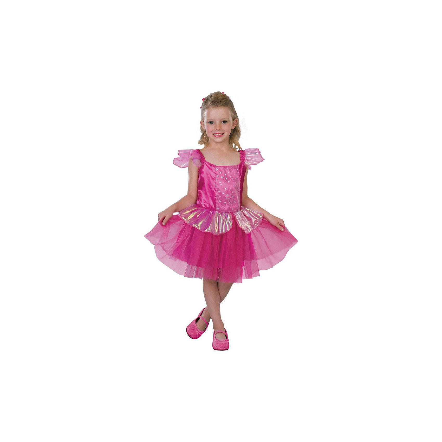 Маскарадный костюм для девочки Добрая фея, 6-8  летКарнавальные костюмы и аксессуары<br>Маскарадный костюм для девочки Добрая фея, 6-8  лет – это возможность превратить праздник в необычное, яркое шоу.<br>Очаровательное карнавальное платье для девочки «Добрая фея» позволит вашей малышке быть яркой героиней на детском утреннике, маскараде или карнавале. Платье с короткими рукавами-крылышками выполнено из атласного материала и прозрачной органзы с красивыми переливами. Верхняя часть платья оформлено вставкой из микросетки, украшенной звездочками. Пышная юбочка дополнена сверху слоем из микросетки, а также оборкой из прозрачной органзы. Платье подчеркнет индивидуальность вашей девочки. Веселое настроение и масса положительных эмоций будут обеспечены!<br><br>Дополнительная информация:<br><br>- Комплектация: платье<br>- Возраста: от 6 до 8 лет<br>- Рост: 125 см.<br>- Обхват груди: 65 см.<br>- Обхват талии: 57 см.<br>- Длина по спинке: 65 см.<br>- Цвет: розовый<br>- Материал: полиэстер, синтетический атлас<br><br>Маскарадный костюм для девочки Добрая фея, 6-8  лет можно купить в нашем интернет-магазине.<br><br>Ширина мм: 400<br>Глубина мм: 500<br>Высота мм: 50<br>Вес г: 650<br>Возраст от месяцев: 72<br>Возраст до месяцев: 96<br>Пол: Женский<br>Возраст: Детский<br>SKU: 4280646