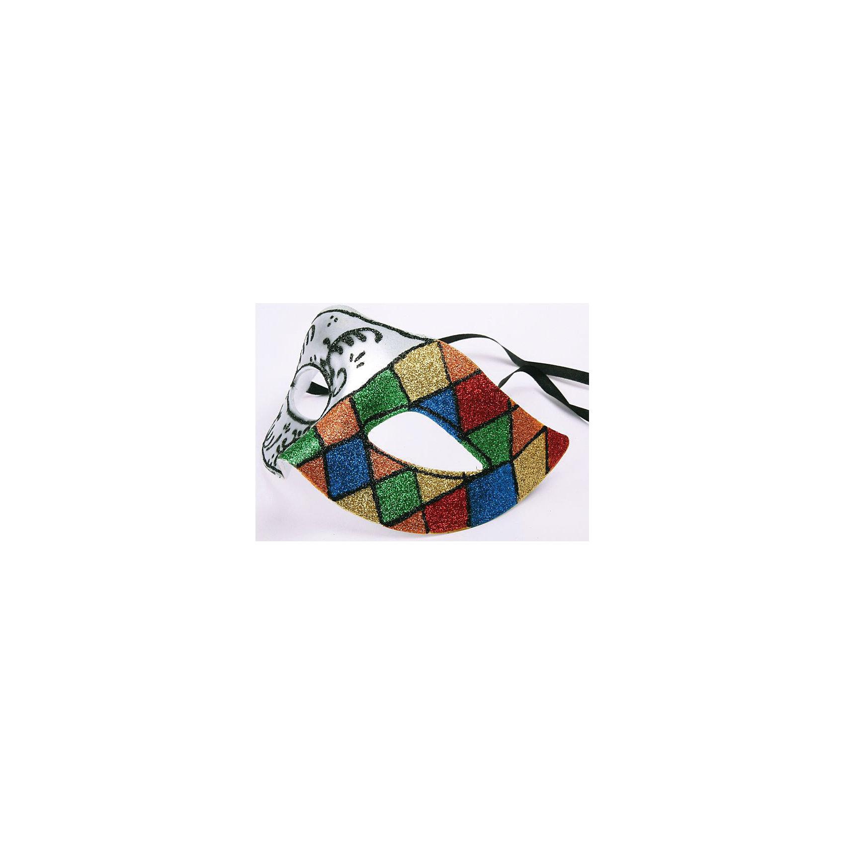 Карнавальная маска Арлекин ЧБКарнавальная маска Арлекин ЧБ – это возможность превратить праздник в необычное, яркое шоу.<br>Карнавальная маска Арлекин ЧБ изготовленная из пластика и украшенная глиттером, внесет нотку задора и веселья в праздник. Одна половина маски цветная, украшена изображением ромбов, вторая - черно-белая, декорирована витыми узорами. Маска станет завершающим штрихом в создании праздничного образа. Изделие крепится на голове при помощи атласной ленты.<br><br>Дополнительная информация:<br><br>- Размер: 15,5 х 10,5 х 7,5 см.<br>- Материал: пластик<br><br>Карнавальную маску Арлекин ЧБ можно купить в нашем интернет-магазине.<br><br>Ширина мм: 115<br>Глубина мм: 105<br>Высота мм: 75<br>Вес г: 20<br>Возраст от месяцев: 36<br>Возраст до месяцев: 1188<br>Пол: Мужской<br>Возраст: Детский<br>SKU: 4280648