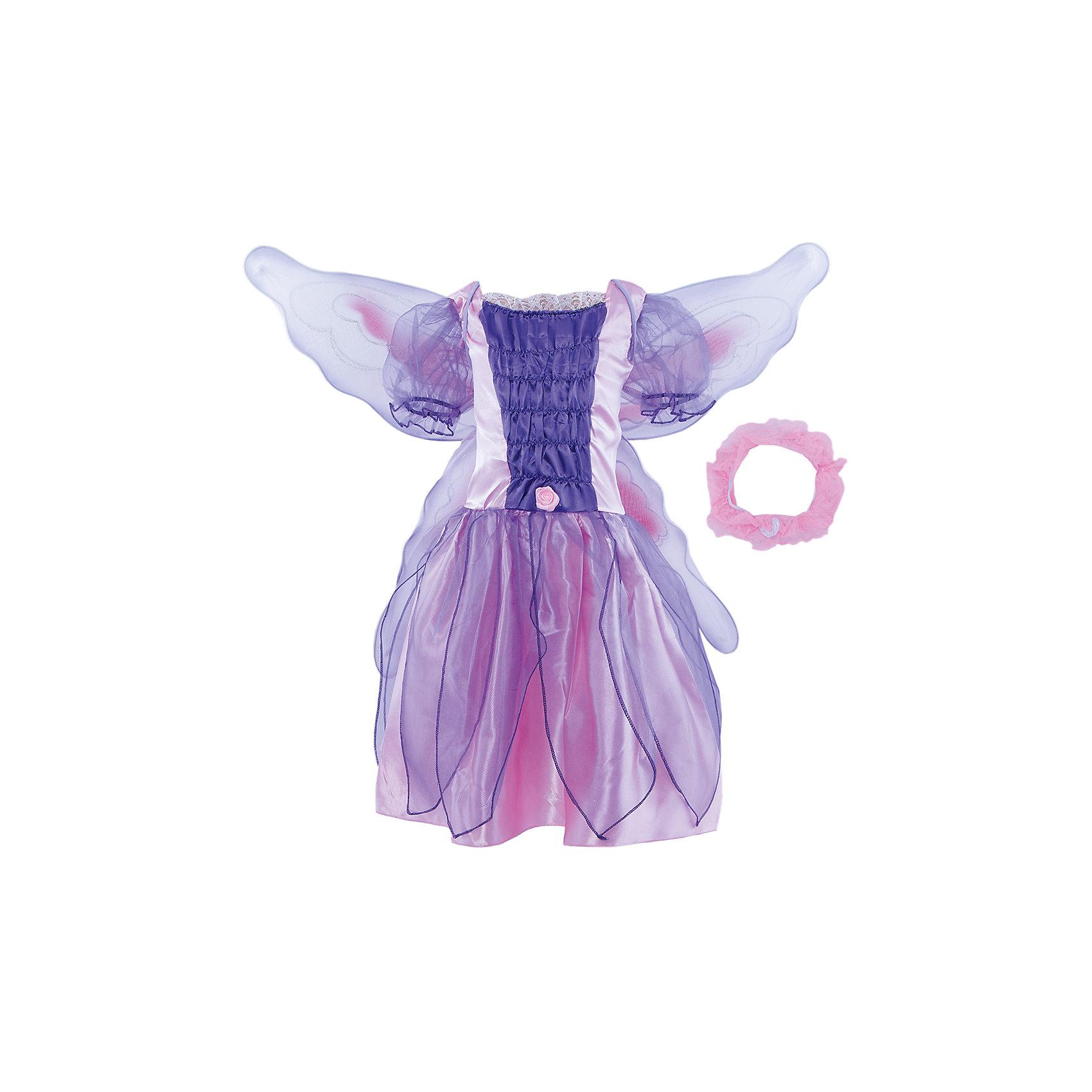 Маскарадный костюм для девочки Фея-бабочка, 6-8  летМаскарадный костюм для девочки Фея-бабочка, 6-8  лет – это возможность превратить праздник в необычное, яркое шоу.<br>Маскарадный костюм для девочки Фея-бабочка, выполненный из полиэстера и трикотажа, позволит вашей малышке быть самой интересной героиней на детском утреннике, маскараде и других мероприятиях. Костюм состоит из платья, крыльев и шейного украшения. Такой костюм привлечет внимание друзей вашей дочки и подчеркнет ее индивидуальность. Веселое настроение и масса положительных эмоций будут обеспечены!<br><br>Дополнительная информация:<br><br>- Комплектация: платье, крылья, шейное украшение<br>- Возраста: от 6 до 8 лет<br>- Рост: 125 см.<br>- Обхват груди: 65 см.<br>- Обхват талии: 57 см.<br>- Материал: полиэстер, трикотаж<br><br>Маскарадный костюм для девочки Фея-бабочка, 6-8  лет можно купить в нашем интернет-магазине.<br><br>Ширина мм: 400<br>Глубина мм: 500<br>Высота мм: 50<br>Вес г: 570<br>Возраст от месяцев: 72<br>Возраст до месяцев: 96<br>Пол: Женский<br>Возраст: Детский<br>SKU: 4280654