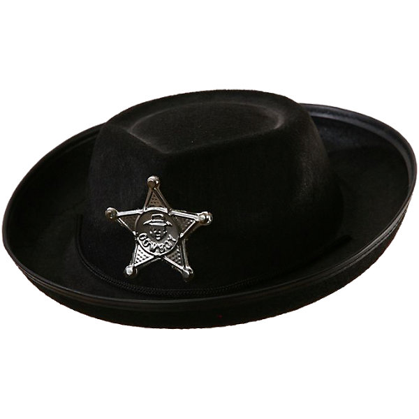 Маскарадная шляпа Шериф, черная