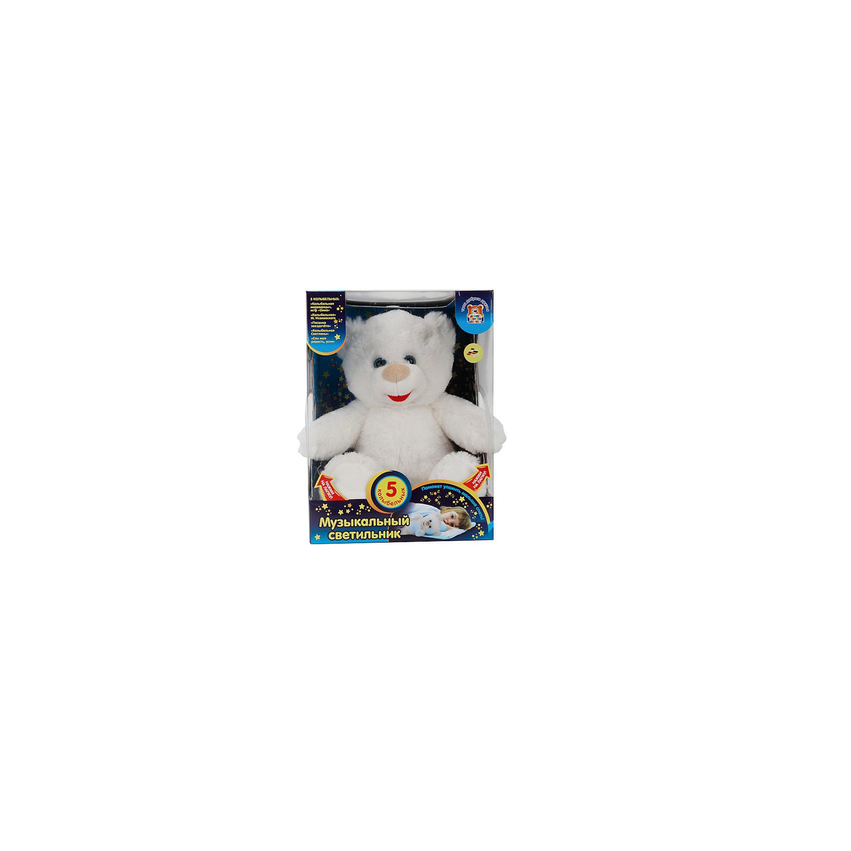 Интерактивная игрушка Лунный медвежонок, МУЛЬТИ-ПУЛЬТИЭтот замечательный мягкий медвежонок станет лучшим другом вашего малыша. Он поможет крохе уснуть, успокоив его нежными колыбельными, надо лишь нажать на левую лапку мишки. Если повторить нажатие, замигают разноцветные огоньки. Уровень громкости регулируется с помощью кнопки, расположенной на нижней левой лапке игрушки. Лунный медвежонок подарит вашему малышу добрые и хорошие сны на всю ночь! <br><br>Дополнительная информация:<br><br>- Материал: мех, пластик.<br>- Размер: 27 см.<br>- Звуковые, световые эффекты. <br>- 5 колыбельные песен. <br>- Возможность выбора колыбельной (кнопка на правой лапе).<br>Элемент питания: 3 ААА батарейки (входят в комплект). <br><br>Интерактивную игрушку Лунный медвежонок, МУЛЬТИ-ПУЛЬТИ, можно купить в нашем магазине.<br><br>Ширина мм: 320<br>Глубина мм: 220<br>Высота мм: 220<br>Вес г: 860<br>Возраст от месяцев: 3<br>Возраст до месяцев: 72<br>Пол: Унисекс<br>Возраст: Детский<br>SKU: 4281691