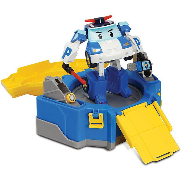 Кейс с гаражом и  трансформером Робокар Поли, 12 смПарковки и гаражи<br>Кейс с гаражом и  трансформером Робокар Поли, 12 см по мотивам полюбившегося мультсериала «Робокар Поли» станет изюминкой в коллекции игрушек ребенка. После открытия кейса автоматический лифт поднимает Робокара Поли на платформу, с которой удобно наблюдать за окружающим порядком Брумстауне. Кейс можно использовать в качестве гаража с пандусом, по которому Поли может заехать в свой полицейский участок и отдохнуть, просмотреть полученные вызовы и составить план работы на следующий день.<br><br>Характеристики:<br>-Развивает: воображение, пространственное мышление, мелкую моторику, речь, фантазию<br>-Игрушка выполнена из высококачественного пластика, с аккуратно обработанными краями, использованные красители не токсичны и гипоаллергенны<br>-Кейс служит для хранения и переноски Робокара в гости, на прогулку<br>-Машина-спасатель легко трансформируется в робота<br><br>Комплектация: машинка-трансформер Поли, кейс-гараж, инструменты (жезл, фонарик, дрель, бензопила)<br><br>Дополнительная информация:<br>-Материалы: пластик, металл<br>-Размеры в упаковке: 36х14х21 см<br>-Вес в упаковке: 900 г<br>-Размер Робокара: 12 см<br>-Размер кейса: 15 см<br><br>Кейс с гаражом и  трансформером Робокар Поли, 12 см можно купить в нашем магазине.<br>Ширина мм: 360; Глубина мм: 140; Высота мм: 210; Вес г: 900; Возраст от месяцев: 36; Возраст до месяцев: 84; Пол: Унисекс; Возраст: Детский; SKU: 4281693;