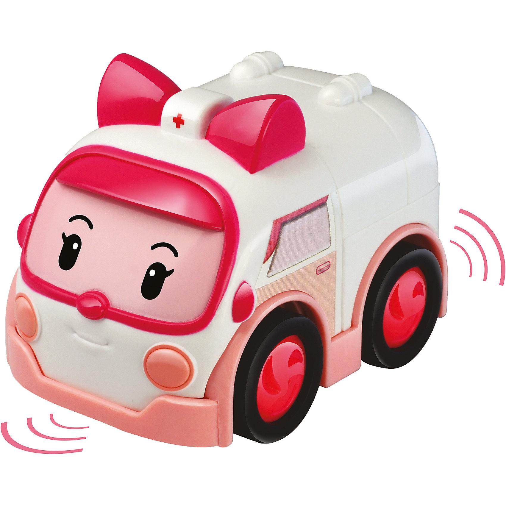 Умная машинка Эмбер, 6 см, Робокар ПолиУмная машинка Эмбер, 6 см, Робокар Поли – скорая помощь из мультфильма «Робокар Поли», которая является членом команды спасателей и всегда придет на помощь своим друзьям и жителям городка Брумс. Эта машинка отличается от обычных тем, что является умной – она знает правила дорожного движения, может самостоятельно ехать по трекам всех игровых наборов серии «Робокар Поли», используя встроенный аккумулятор, а если перед ней возникнет препятствие, она останавливается за несколько сантиметров до него, предотвращая аварию.<br><br>Характеристики:<br>-Развивает: воображение, память, логическое мышление, мелкую моторику, речь, фантазию<br>-Игрушка выполнена из высококачественного пластика, с аккуратно обработанными краями, использованные красители не токсичны и гипоаллергенны<br>-Игрушка отлично подойдет как для игры по мотивам мультфильма «Робокар Поли», так и для придумывания новых историй<br>-Можно собрать всю коллекцию машин-спасателей (скорая помощь, пожарная машина, вертолет и полицейский) и разнообразить игры<br>-2 варианта движения машинки: инерционный или на основе встроенного аккумулятора (необходима станция подзарядки)<br><br>Дополнительная информация:<br>-Материалы: пластик<br>-Размеры в упаковке: 12х7х13 см<br>-Вес в упаковке: 94 г<br>-Размер машинки: 6 см<br>-Внимание! Станция подзарядки Energy station (Энерджи Стэйшн) покупается отдельно в составе игровых наборов-треков Умные машинки<br><br>Ребенку будет интересно играть с машинкой скорой помощи Эмбер, ехать по вызову и спасать жителей городка Брумстаун!<br><br>Умную машинку Эмбер, 6 см, Робокар Поли можно купить в нашем магазине.<br><br>Ширина мм: 120<br>Глубина мм: 80<br>Высота мм: 130<br>Вес г: 94<br>Возраст от месяцев: 36<br>Возраст до месяцев: 84<br>Пол: Унисекс<br>Возраст: Детский<br>SKU: 4281696