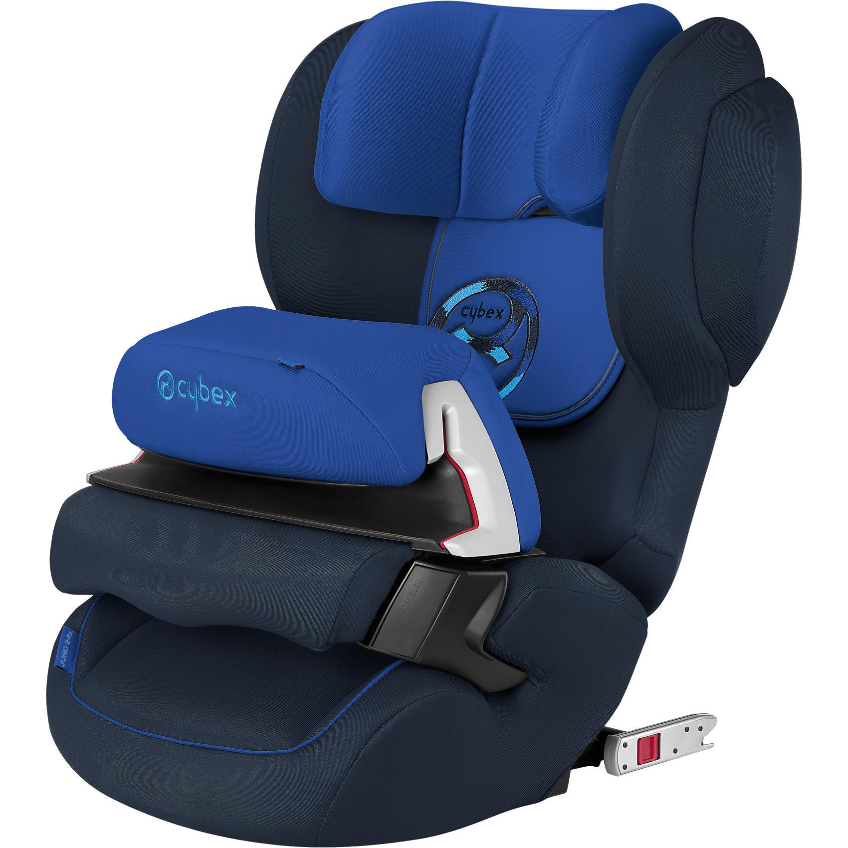 Автокресло Cybex Juno 2-Fix, 9-18 кг, Royal Blue 2016Группа 1 (От 9 до 18 кг)<br>Высокотехнологичное надежное автокресло позволит перевозить ребенка, не беспокоясь при этом о его безопасности. Оно предназначено для предназначено для детей весом от 9 до 18 килограмм. Такое кресло обеспечит малышу не только безопасность, но и комфорт (регулируемый угол наклона и высота подголовника). Вместо пятиточечных ремней ребенок фиксируется при помощи защитного столика, не ограничивая ему свободы движений<br>Автокресло устанавливают по ходу движения. Такое кресло дает возможность свободно путешествовать, ездить в гости и при этом  быть рядом с малышом. Конструкция - очень удобная и прочная. Изделие произведено из качественных и безопасных для малышей материалов, оно соответствуют всем современным требованиям безопасности. Оно отлично показало себя на краш-тестах.<br> <br>Дополнительная информация:<br><br>цвет: синий;<br>материал: текстиль, пластик;<br>вес ребенка:  9 до 18 кг;<br>регулируемая подушка безопасности;<br>регулируемый по высоте подголовник;<br>усовершенствованная система циркуляции воздуха;<br>встроенный ящик для мелочей:<br>съемный чехол;<br>по мере взросления ребенка трансформируется в бустер; <br>регулировка положения автокресла одной рукой;<br>регулируемый угол наклона;<br>можно использовать со штатными ремнями или с дополнительной базой;<br>7-позиционный регулируемый по высоте подголовник;<br>крепление по ходу движения;<br>система защиты от боковых ударов;<br>соответствие Европейскому стандарту безопасности ЕСЕ R44/04.<br><br>АвтокреслоJuno 2-Fix, 9-18 кг., Royal Blue, от компании Cybex можно купить в нашем магазине.<br><br>Ширина мм: 647<br>Глубина мм: 474<br>Высота мм: 426<br>Вес г: 8386<br>Цвет: синий<br>Возраст от месяцев: 9<br>Возраст до месяцев: 36<br>Пол: Мужской<br>Возраст: Детский<br>SKU: 4284840