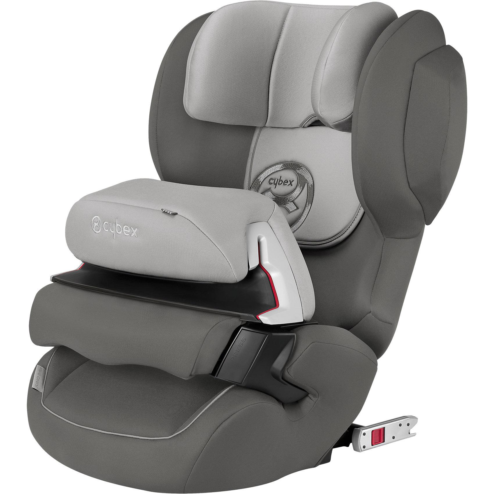 Автокресло Juno 2-Fix , 9-18 кг., Cybex, Manhattan Grey 2016Высокотехнологичное надежное автокресло позволит перевозить ребенка, не беспокоясь при этом о его безопасности. Оно предназначено для предназначено для детей весом от 9 до 18 килограмм. Такое кресло обеспечит малышу не только безопасность, но и комфорт (регулируемый угол наклона и высота подголовника). Вместо пятиточечных ремней ребенок фиксируется при помощи защитного столика, не ограничивая ему свободы движений<br>Автокресло устанавливают по ходу движения. Такое кресло дает возможность свободно путешествовать, ездить в гости и при этом  быть рядом с малышом. Конструкция - очень удобная и прочная. Изделие произведено из качественных и безопасных для малышей материалов, оно соответствуют всем современным требованиям безопасности. Оно отлично показало себя на краш-тестах.<br> <br>Дополнительная информация:<br><br>цвет: серый;<br>материал: текстиль, пластик;<br>вес ребенка:  9 до 18 кг;<br>регулируемая подушка безопасности;<br>регулируемый по высоте подголовник;<br>усовершенствованная система циркуляции воздуха;<br>встроенный ящик для мелочей:<br>съемный чехол;<br>по мере взросления ребенка трансформируется в бустер; <br>регулировка положения автокресла одной рукой;<br>регулируемый угол наклона;<br>можно использовать со штатными ремнями или с дополнительной базой;<br>7-позиционный регулируемый по высоте подголовник;<br>крепление по ходу движения;<br>система защиты от боковых ударов;<br>соответствие Европейскому стандарту безопасности ЕСЕ R44/04.<br><br>АвтокреслоJuno 2-Fix, 9-18 кг., Manhattan Grey 2016, от компании Cybex можно купить в нашем магазине.<br><br>Ширина мм: 635<br>Глубина мм: 460<br>Высота мм: 415<br>Вес г: 8490<br>Цвет: серый<br>Возраст от месяцев: 9<br>Возраст до месяцев: 36<br>Пол: Унисекс<br>Возраст: Детский<br>SKU: 4284841