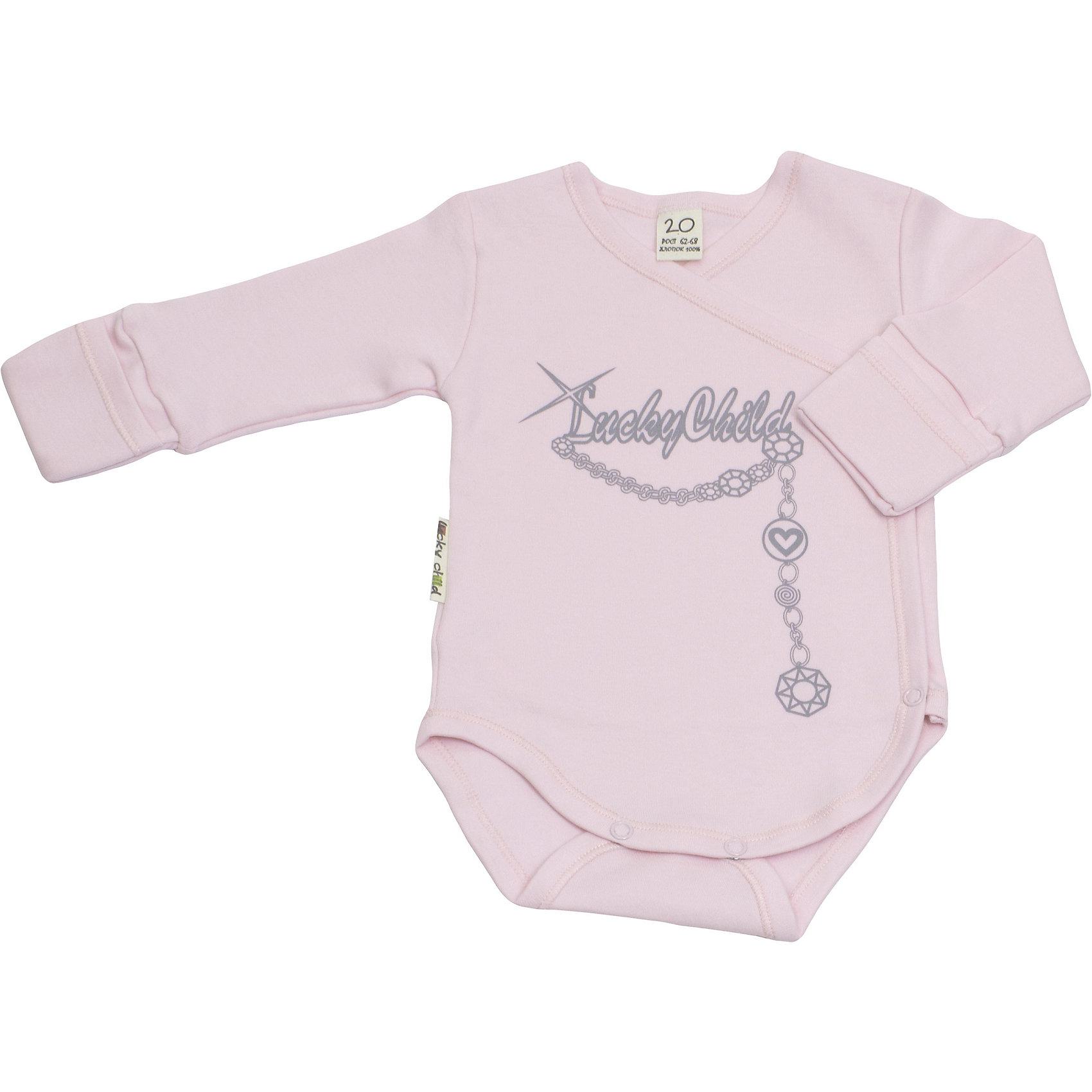 Боди Lucky ChildБоди Lucky Child<br>Необычайно красивое боди для девочки Леди Lucky Child смотрится оригинально за счет дизайнерского принта. Идеальный вариант и для комбинезона, и для штанишек. А с пышной юбкой и вовсе будет смотреться как бальное платье! Ваша малышка достойна лучшей одежды - и она перед вами!<br>Состав : 100% хлопок<br><br>Ширина мм: 157<br>Глубина мм: 13<br>Высота мм: 119<br>Вес г: 200<br>Цвет: розовый<br>Возраст от месяцев: 0<br>Возраст до месяцев: 3<br>Пол: Унисекс<br>Возраст: Детский<br>Размер: 56/62,68/74,74/80,80/86,62/68<br>SKU: 4284854