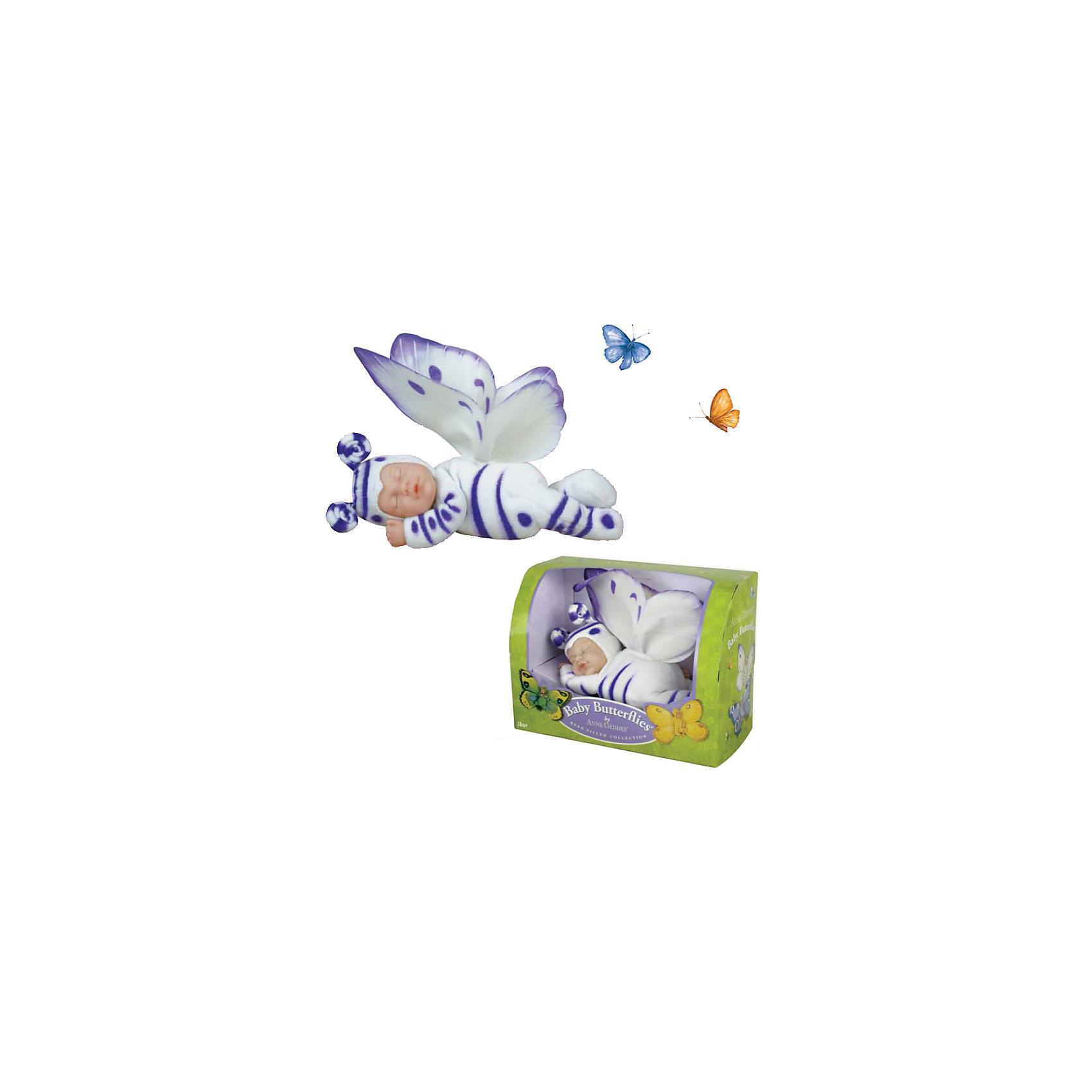 Кукла-бабочка Anne Geddes, 23 см, UNIMAXКуклы-пупсы<br>Чудесная мягкая Кукла-бабочка Anne Geddes (Энн Джеддес), 23 см, UNIMAX (Юнимакс) выпущена по лицензии всемирно известного фотографа Энн Джеддес, которая покорила сердца людей во всем мире своими неповторимыми изображениями младенцев. Кукла-бабочка – очередное произведение для любителей бабочек и кукол, – выполнена в мягком костюмчике бело-лилового цвета, с пышными крылышками и усиками на шапочке. Ваша девочка будет в восторге от этой уникальной куколки!<br> <br>Дополнительная информация:<br>-Материалы: винил, текстиль, гранулят<br>-Размеры в упаковке: 24х18х12 см<br>-Размер куклы: 23 см<br><br>Трогательная авторская Кукла-бабочка станет желанным подарком не только ребенку, но и взрослому коллекционеру, а также настоящим украшением интерьера Вашего дома!<br><br>Куклу-бабочку Anne Geddes (Энн Джеддес), 23 см, UNIMAX (Юнимакс) можно купить в нашем магазине.<br><br>Ширина мм: 240<br>Глубина мм: 180<br>Высота мм: 120<br>Вес г: 438<br>Возраст от месяцев: 36<br>Возраст до месяцев: 96<br>Пол: Женский<br>Возраст: Детский<br>SKU: 4286361