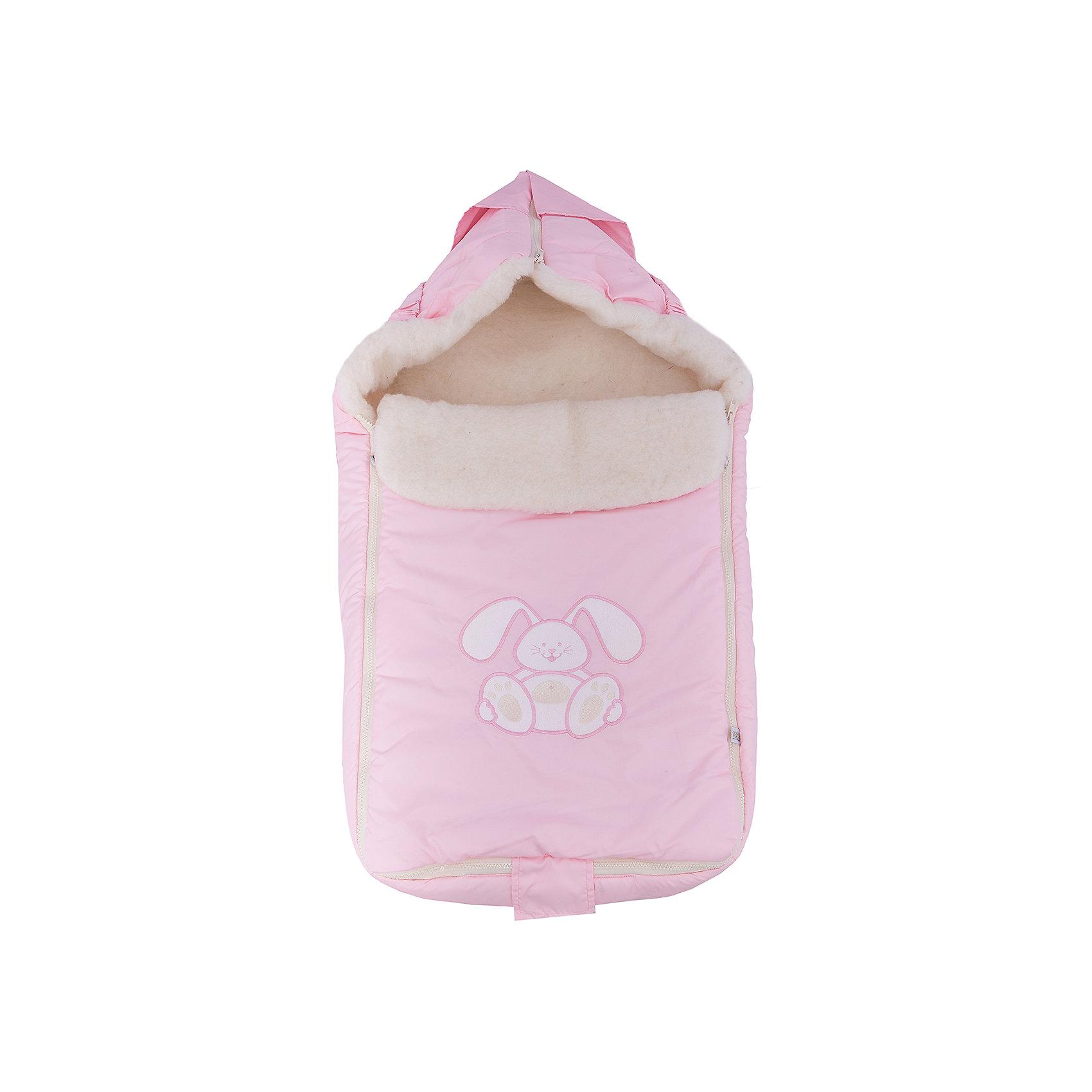 Конверт меховой Зайчик, Сонный гномик, розовыйЗимние конверты<br>Характеристики:<br><br>• Вид детского текстиля: конверт<br>• Предназначение: для прогулки, на выписку<br>• Сезон: зима<br>• Форма конверта: мешок<br>• Утеплитель: шелтер, 200 г/кв.м<br>• Степень утепления: высокая<br>• Температурный режим: от 0? С до -20? С<br>• Пол: для девочки<br>• Тематика рисунка: зайчонок<br>• Материал: дюспо (100% полиэстер); натуральная овечья шерсть<br>• Цвет: розовый, белый<br>• Размеры: 45*80 см<br>• По бокам имеются застежки-молнии<br>• Застежка-молния на капюшоне<br>• Вес в упаковке: 740 г<br>• Особенности ухода: допускается щадящая химчистка или деликатная стирка <br><br>Конверт меховой Зайчик, Сонный гномик, розовый от отечественного торгового бренда изготовлен с учетом международных требований к качеству и безопасности товаров для детей. Верх изделия выполнен из 100% полиэстера, который отличается повышенными водоотталкивающими и непродуваемыми свойствами. Высокую степень утепления обеспечивает гипоаллергенный шелтер и натуральная овечья шерсть. Конверт выполнен в форме мешка, для удобства одевания по бокам предусмотрены застежки-молнии. Капюшон формируется молнией, на передней полочке предусмотрен отворот, который при необходимости защищает личико малыша от ветра и холодного воздуха. Изделие выполнено в ярком дизайне: ярко розовый фон, на котором по центру расположена аппликация милого зайчонка.<br><br>Конверт меховой Зайчик, Сонный гномик, розовый можно купить в нашем интернет-магазине.<br><br>Ширина мм: 600<br>Глубина мм: 80<br>Высота мм: 450<br>Вес г: 700<br>Возраст от месяцев: 0<br>Возраст до месяцев: 12<br>Пол: Женский<br>Возраст: Детский<br>SKU: 4286375