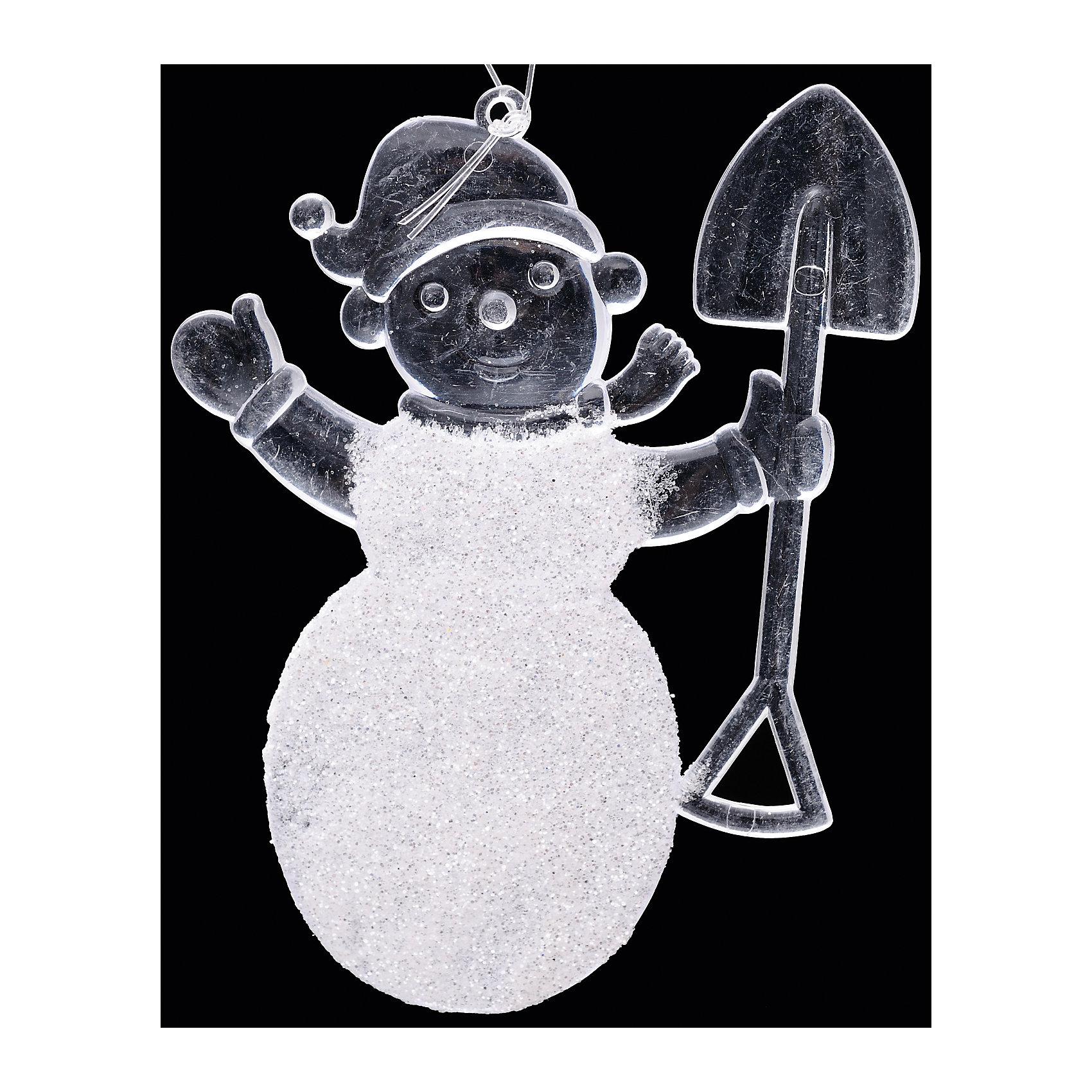 Набор Весёлые снеговички (2 шт) 11 смСимпатичный Набор Весёлые снеговички (2 шт) 11 см включает в себя 2 подвески в форме снеговиков, словно сделанные изо льда и припорошенные настоящим снежком! Украшения будут очень красиво смотреться на новогодней елке, придавая ей нарядный вид, а Вам подарят праздничное настроение! Снеговичков можно использовать не только как новогоднюю елочную игрушку, но и как украшение Вашего дома или офиса.<br><br>Комплектация: 2 подвески в виде снеговиков<br><br>Дополнительная информация:<br>-Материалы: пластик<br>-Размер в упаковке: 7х4х11 см<br>-Вес в упаковке: 28 г<br>-Размер: 11 см<br><br>Набор Весёлые снеговички (2 шт) 11 см можно купить в нашем магазине.<br><br>Ширина мм: 70<br>Глубина мм: 40<br>Высота мм: 110<br>Вес г: 28<br>Возраст от месяцев: 84<br>Возраст до месяцев: 2147483647<br>Пол: Унисекс<br>Возраст: Детский<br>SKU: 4286697