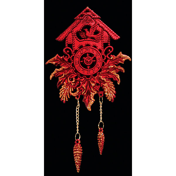 Украшение Часы с кукушкойЁлочные игрушки<br>Украшение Часы с кукушкой – такой же символ Нового года, как елка или Дед Мороз со Снегурочкой: ярко красные с позолотой с шишечками в роли гирек сделают Вашу елку по-настоящему волшебной! А наряжая елку этой замечательной игрушкой вместе с детьми, Вы получите несколько часов замечательного общения и сделаете праздничным свой интерьер! <br><br>Дополнительная информация:<br>-Материалы: пластик<br>-Размер в упаковке: 9,5х1х18 см<br>-Вес в упаковке: 42 г<br>-Размер: 18 см<br><br>Украшение Часы с кукушкой можно купить в нашем магазине.<br><br>Ширина мм: 95<br>Глубина мм: 10<br>Высота мм: 180<br>Вес г: 42<br>Возраст от месяцев: 84<br>Возраст до месяцев: 2147483647<br>Пол: Унисекс<br>Возраст: Детский<br>SKU: 4286708