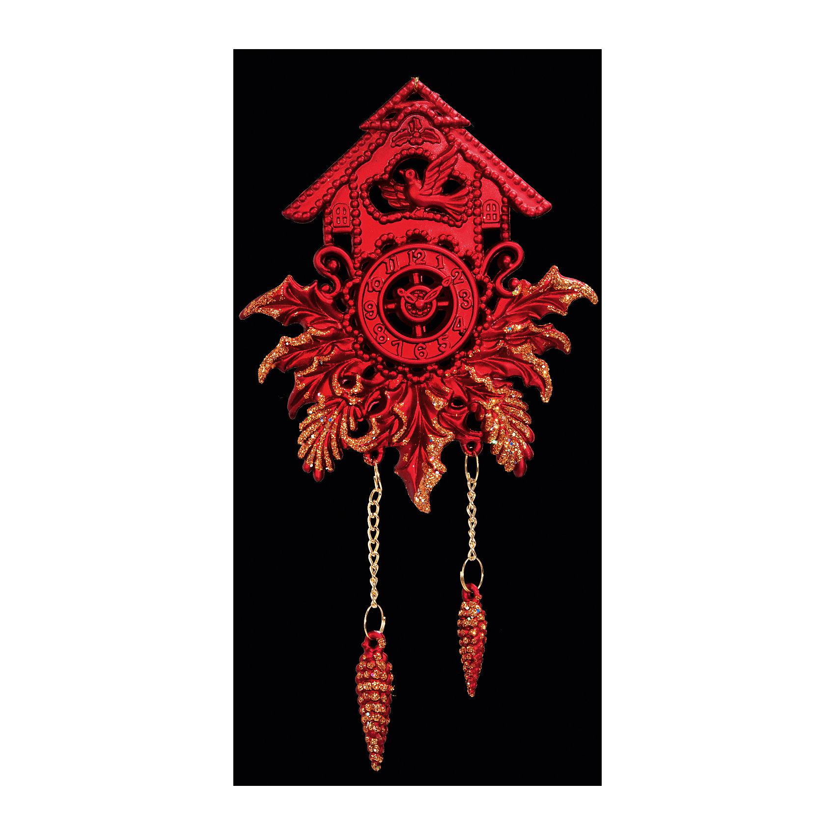 Украшение Часы с кукушкойНовинки Новый Год<br>Украшение Часы с кукушкой – такой же символ Нового года, как елка или Дед Мороз со Снегурочкой: ярко красные с позолотой с шишечками в роли гирек сделают Вашу елку по-настоящему волшебной! А наряжая елку этой замечательной игрушкой вместе с детьми, Вы получите несколько часов замечательного общения и сделаете праздничным свой интерьер! <br><br>Дополнительная информация:<br>-Материалы: пластик<br>-Размер в упаковке: 9,5х1х18 см<br>-Вес в упаковке: 42 г<br>-Размер: 18 см<br><br>Украшение Часы с кукушкой можно купить в нашем магазине.<br><br>Ширина мм: 95<br>Глубина мм: 10<br>Высота мм: 180<br>Вес г: 42<br>Возраст от месяцев: 84<br>Возраст до месяцев: 2147483647<br>Пол: Унисекс<br>Возраст: Детский<br>SKU: 4286708