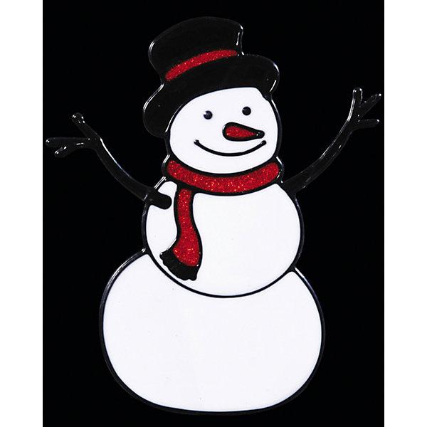 Наклейка на окно Снеговичок 14*16,5 смНовинки Новый Год<br>Наклейка на окно Снеговичок 14*16,5 см предназначена для оригинального украшения окон и витрин и поможет создать волшебную атмосферу новогоднего праздника! Снеговик, наравне с Дедом Морозом и Снегурочкой,  – это символ Нового Года, поэтому он обязательно должен присутствовать в каждом доме!<br><br>Дополнительная информация:<br>-Материалы: силикон<br>-Размер в упаковке: 14х0,5х16,5 см<br>-Вес в упаковке: 26 г<br>-Размер: 14х16,5 см<br><br>Наклейка на окно Снеговичок 14*16,5 см можно купить в нашем магазине.<br><br>Ширина мм: 140<br>Глубина мм: 5<br>Высота мм: 165<br>Вес г: 26<br>Возраст от месяцев: 84<br>Возраст до месяцев: 2147483647<br>Пол: Унисекс<br>Возраст: Детский<br>SKU: 4286713