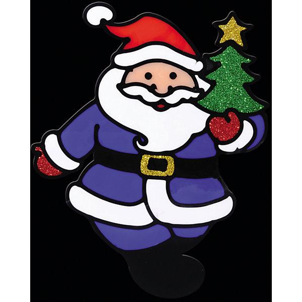 Наклейка на окно Весёлый Дед Мороз 13*16 смНовинки Новый Год<br>Наклейка на окно Весёлый Дед Мороз 13*16 см позволит Вам создать в своем доме атмосферу тепла, веселья и радости, украшая его всей семьей! Сувенир выполнен в форме Деда Мороза, который является главным символом Рождества и Нового Года и должен быть в каждом доме! Елочка в руках у Деда Мороза и его рукавички декорированы нарядными блестками.<br><br>Дополнительная информация:<br>-Материалы: силикон, блестки<br>-Размер в упаковке: 16х0,5х13 см<br>-Вес в упаковке: 26 г<br>-Размер: 13х16 см<br><br>Наклейка на окно Весёлый Дед Мороз 13*16 см можно купить в нашем магазине.<br><br>Ширина мм: 160<br>Глубина мм: 5<br>Высота мм: 130<br>Вес г: 26<br>Возраст от месяцев: 84<br>Возраст до месяцев: 2147483647<br>Пол: Унисекс<br>Возраст: Детский<br>SKU: 4286714
