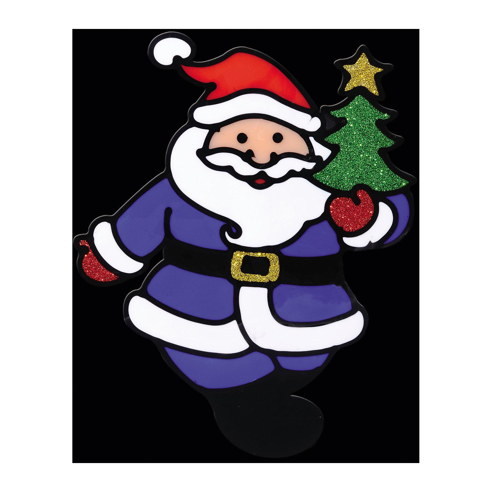Наклейка на окно Весёлый Дед Мороз 13*16 смНаклейка на окно Весёлый Дед Мороз 13*16 см позволит Вам создать в своем доме атмосферу тепла, веселья и радости, украшая его всей семьей! Сувенир выполнен в форме Деда Мороза, который является главным символом Рождества и Нового Года и должен быть в каждом доме! Елочка в руках у Деда Мороза и его рукавички декорированы нарядными блестками.<br><br>Дополнительная информация:<br>-Материалы: силикон, блестки<br>-Размер в упаковке: 16х0,5х13 см<br>-Вес в упаковке: 26 г<br>-Размер: 13х16 см<br><br>Наклейка на окно Весёлый Дед Мороз 13*16 см можно купить в нашем магазине.<br><br>Ширина мм: 160<br>Глубина мм: 5<br>Высота мм: 130<br>Вес г: 26<br>Возраст от месяцев: 84<br>Возраст до месяцев: 2147483647<br>Пол: Унисекс<br>Возраст: Детский<br>SKU: 4286714