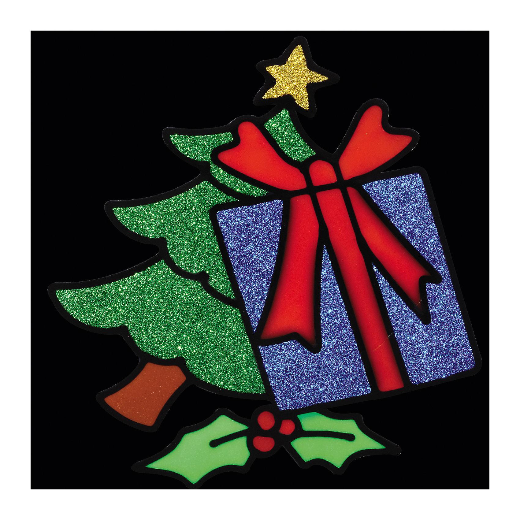 Наклейка на окно Подарки у ёлочки 15*15,5 смНовинки Новый Год<br>Наклейка на окно Подарки у ёлочки 15*15,5 см выполнена в виде новогодней елочки, коробки с подарком и рождественской омелы, и вся композиция усыпана яркими блестками. Сувенир замечательно украсит новогодний интерьер и создаст праздничное настроение Вам и Вашим близким!  <br><br>Дополнительная информация:<br>-Материалы: силикон<br>-Размер в упаковке: 15х0,5х15,5 см<br>-Вес в упаковке: 26 г<br>-Размер: 15х15,5 см<br><br>Наклейка на окно Подарки у ёлочки 15*15,5 см можно купить в нашем магазине.<br><br>Ширина мм: 150<br>Глубина мм: 5<br>Высота мм: 155<br>Вес г: 26<br>Возраст от месяцев: 84<br>Возраст до месяцев: 2147483647<br>Пол: Унисекс<br>Возраст: Детский<br>SKU: 4286715